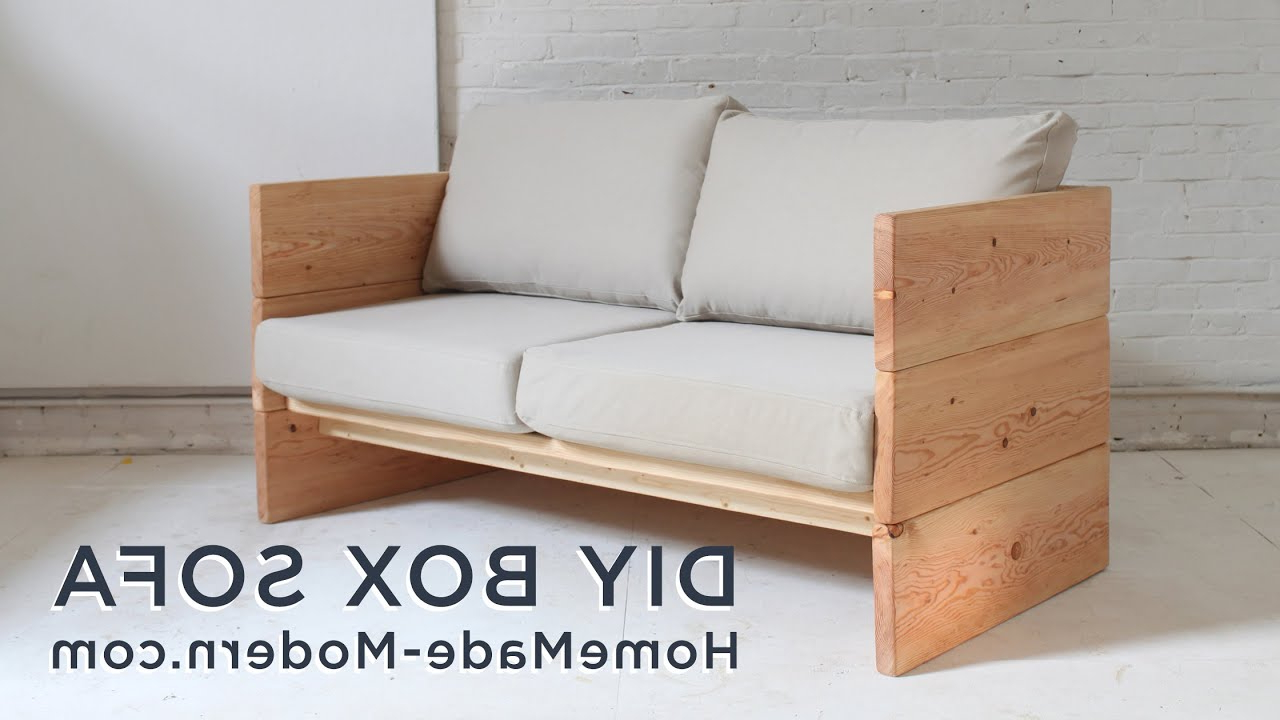 Most Recently Released Cheap Sofa Chairs In Diy Sofa Made Out Of 2x10s – Youtube (View 9 of 20)