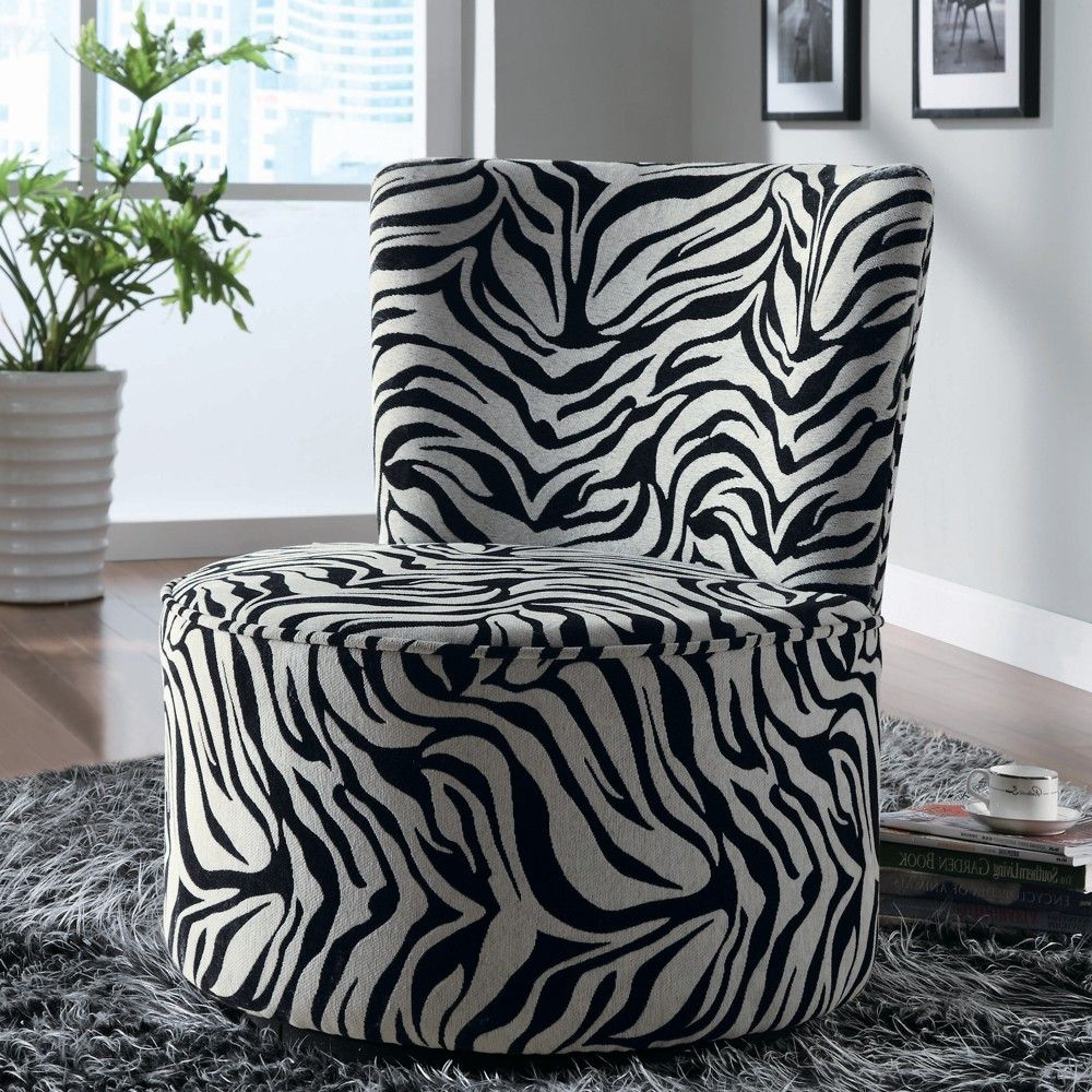 Most Recently Released Circuit Swivel Accent Chairs With Regard To Zebra Striped Swivel Chair – Linen Chest (View 11 of 20)