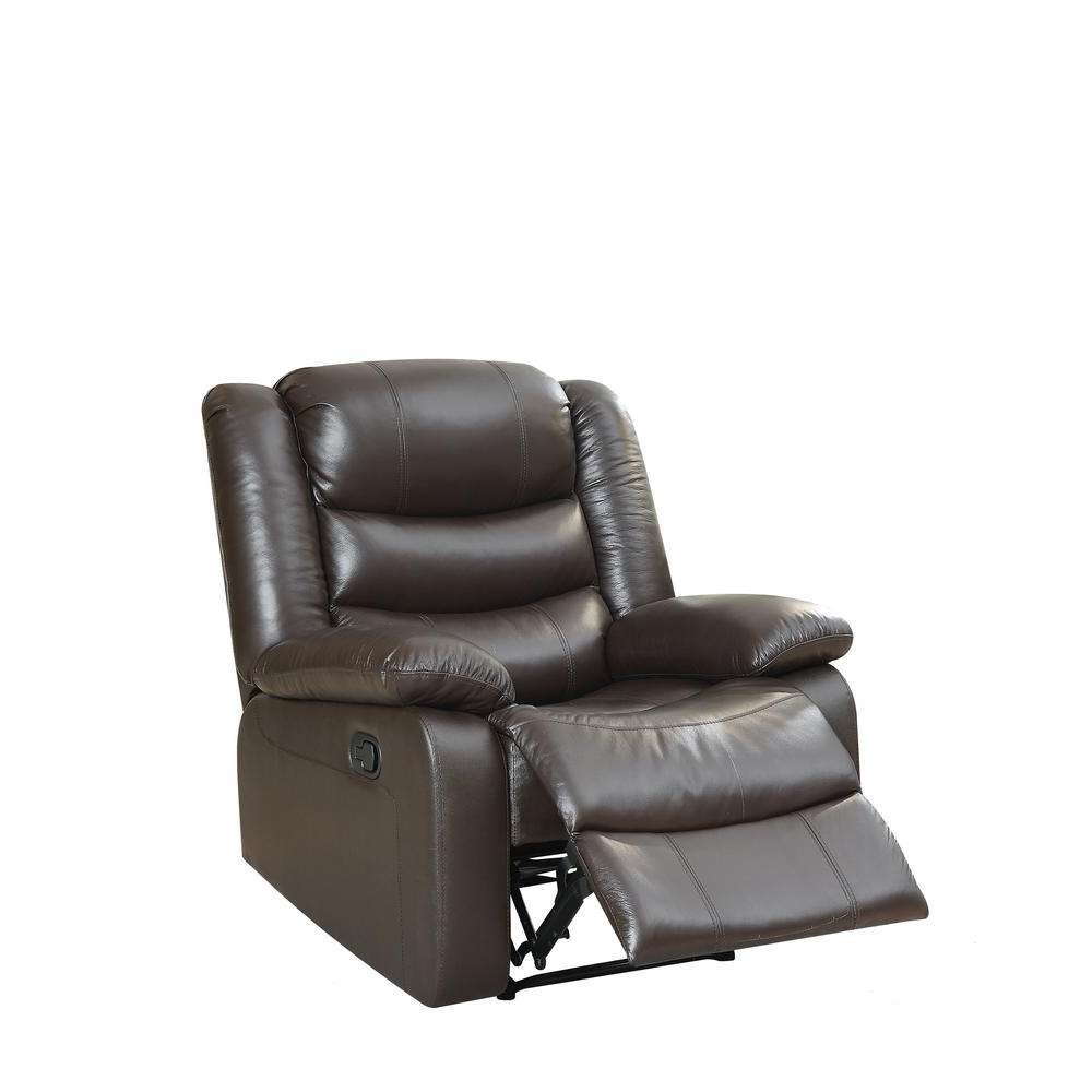 Most Recently Released Espresso Leather Swivel Chairs With Regard To Acme Furniture Acme Fede Top Grain Leather Espresso Recliner (View 10 of 20)
