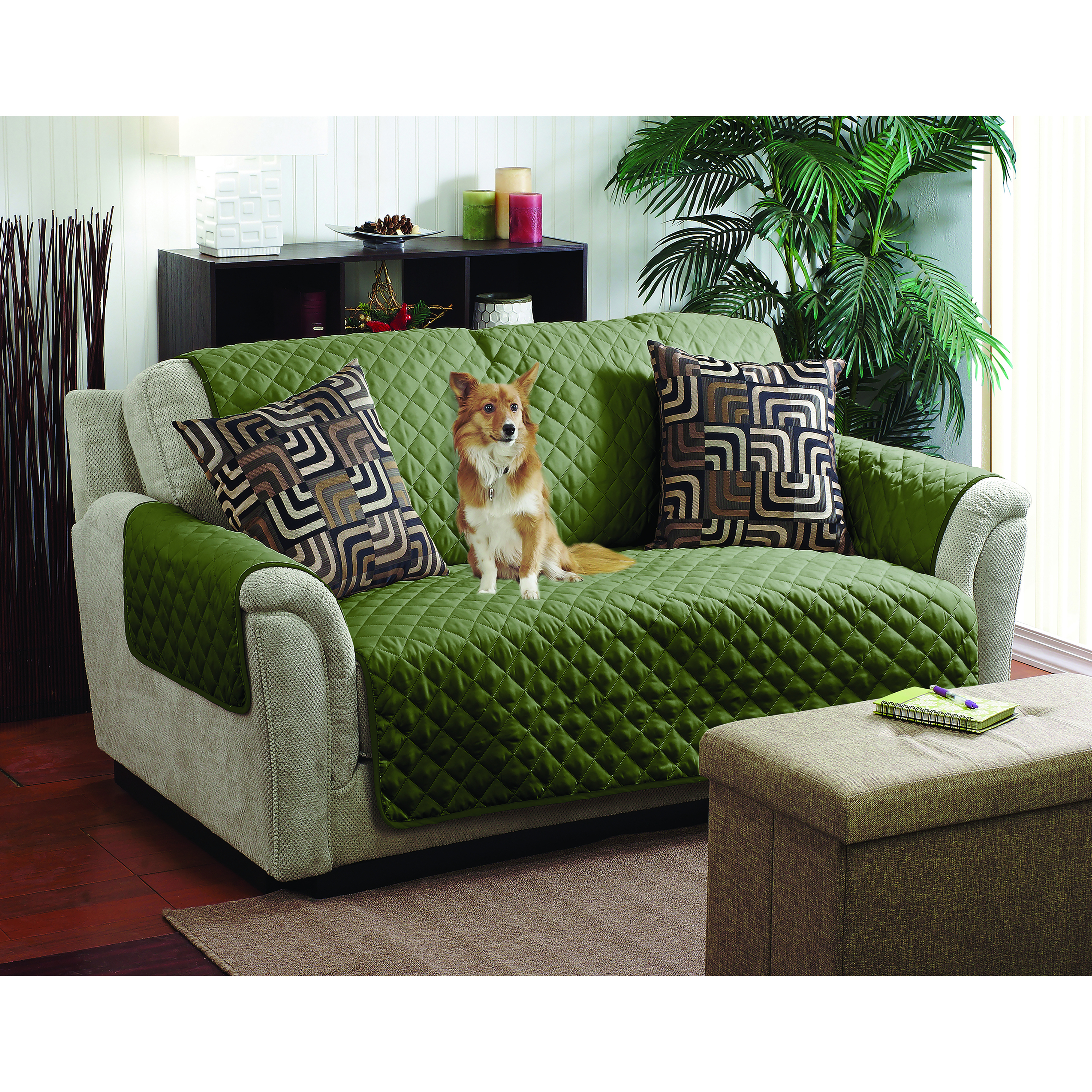Most Recently Released Home Details Double Sided Sofa Furniture Protector & Cover – Walmart Regarding Karen Sofa Chairs (View 3 of 20)