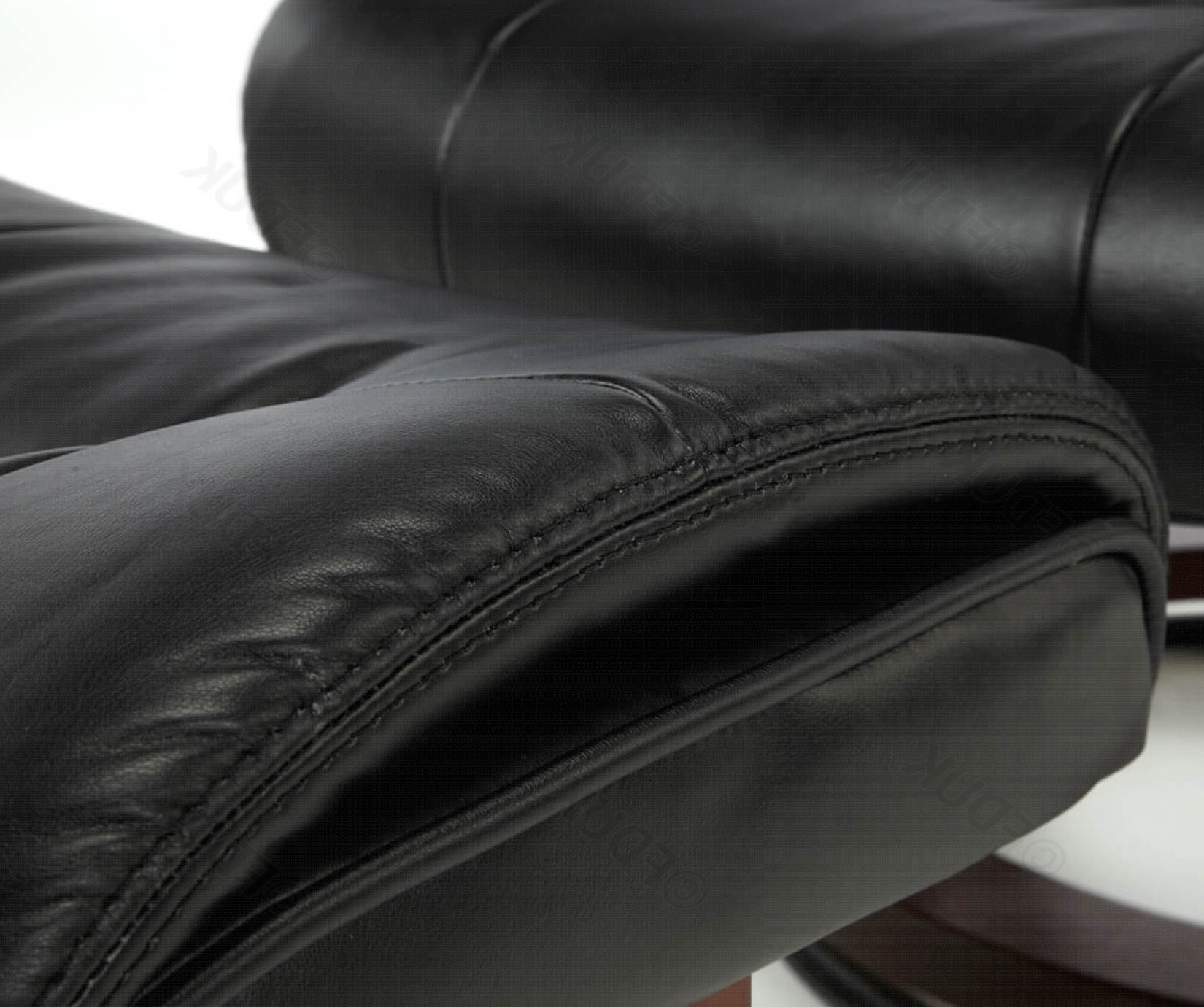 Most Recently Released Leather Black Swivel Chairs With Regard To Serene Furnishings (View 18 of 20)