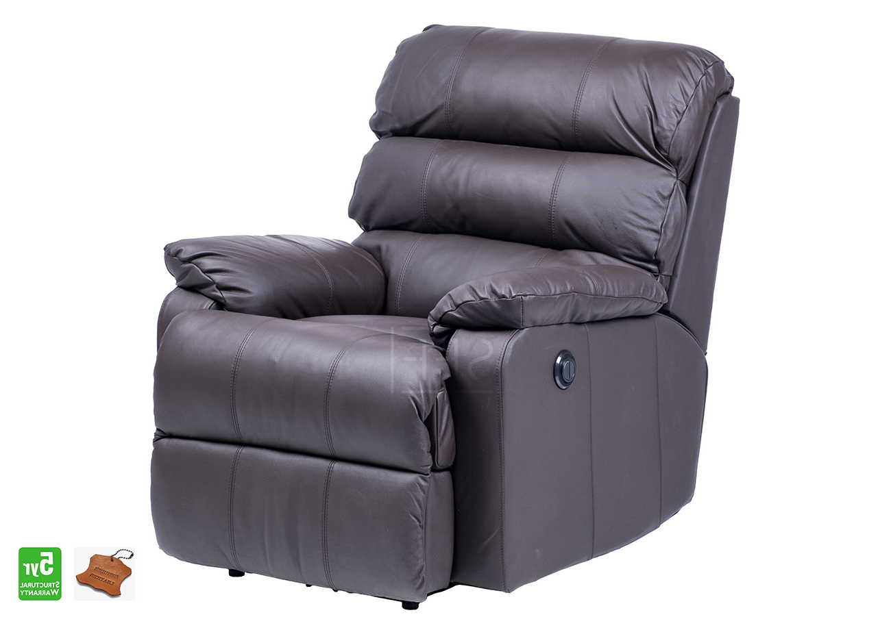 Most Recently Released Mansfield Electric Recliner Chair In Full Leather, Sydney Furniture Throughout Mansfield Cocoa Leather Sofa Chairs (View 14 of 20)