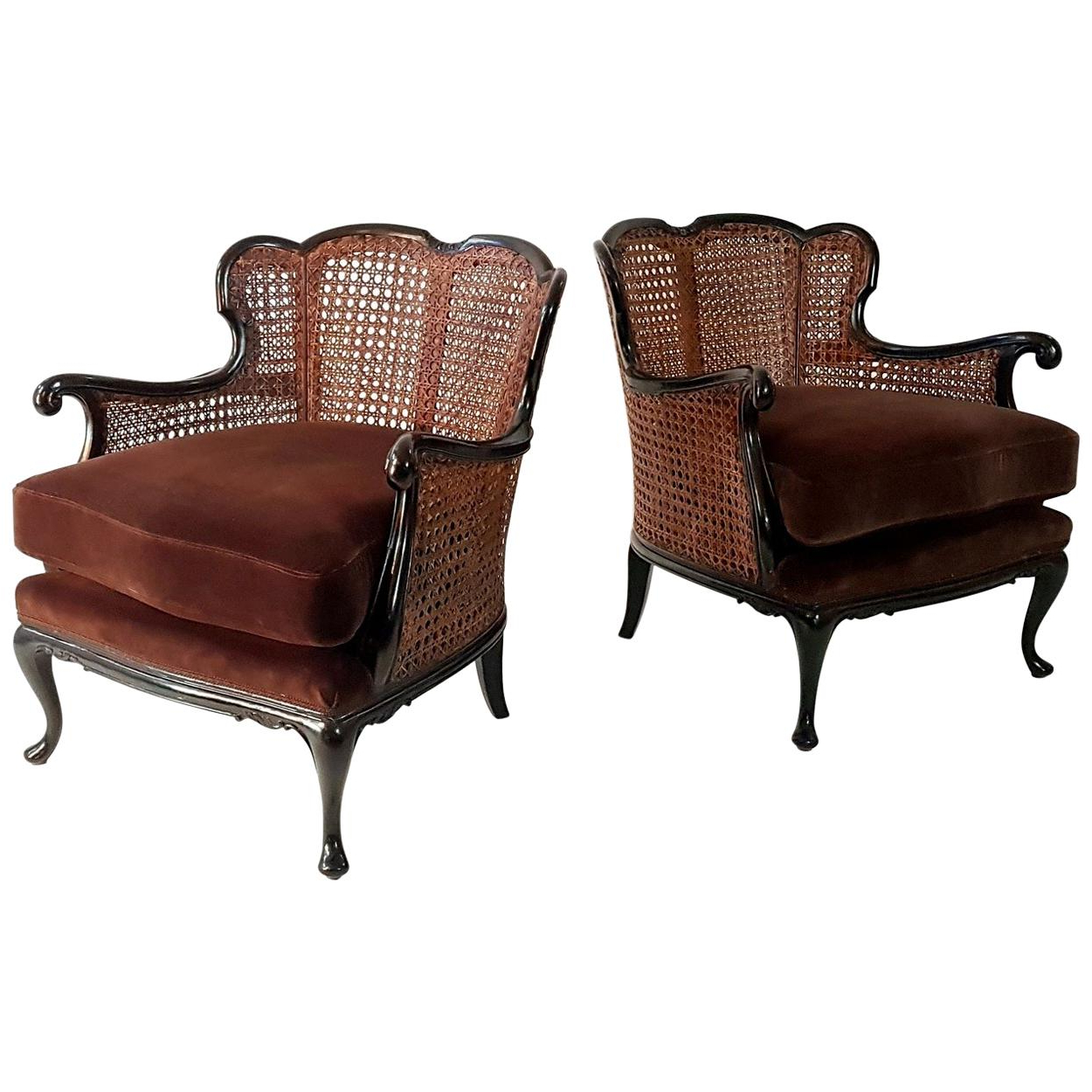 Most Recently Released Rattan Lounge Chairs – 256 For Sale At 1Stdibs For Franco Iii Fabric Swivel Rocker Recliners (View 14 of 20)