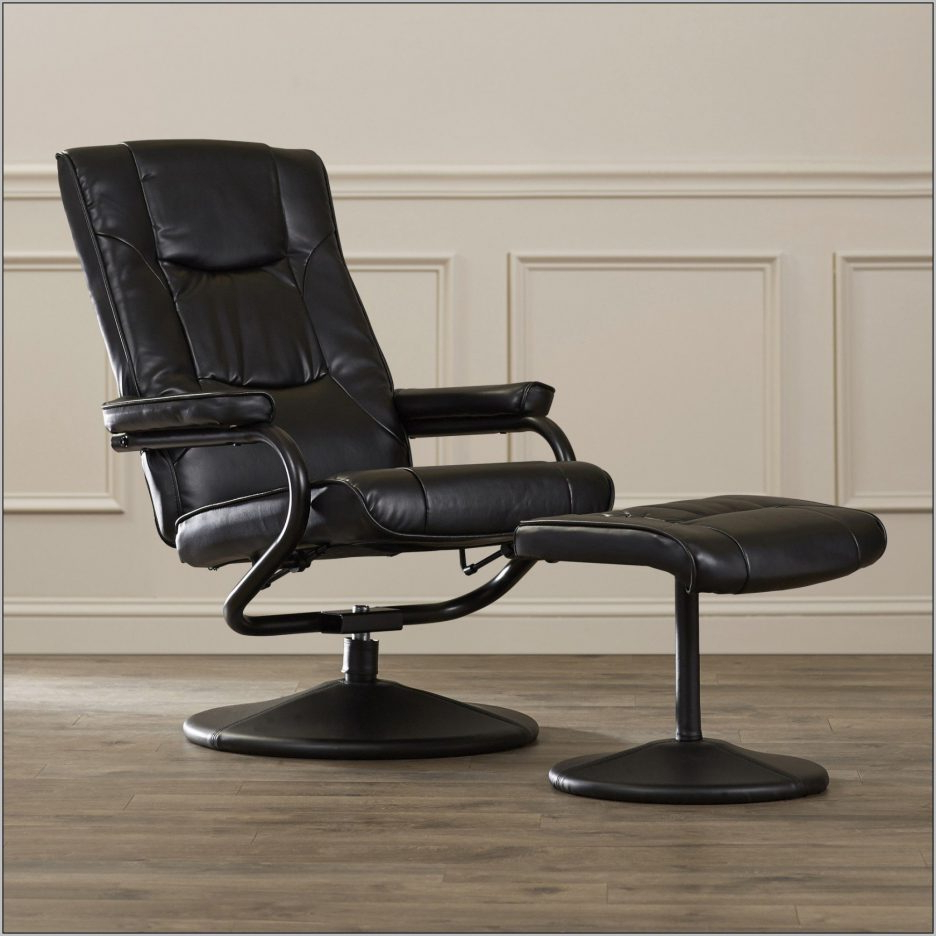 Most Recently Released Reclining Office Chair With Ottoman Modern Fancy F97X In Simple With Amala Dark Grey Leather Reclining Swivel Chairs (View 14 of 20)