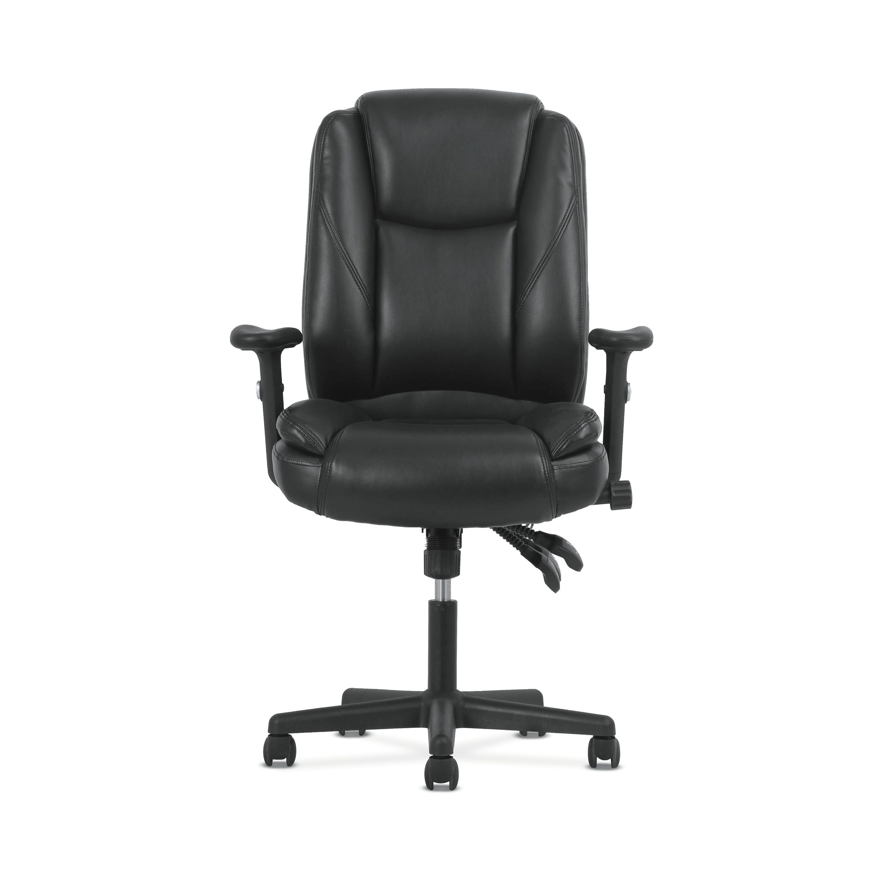 Most Recently Released Shop Sadie Black Softhread Leather High Back Adjustable Swivel Regarding Sadie Ii Swivel Accent Chairs (View 10 of 20)