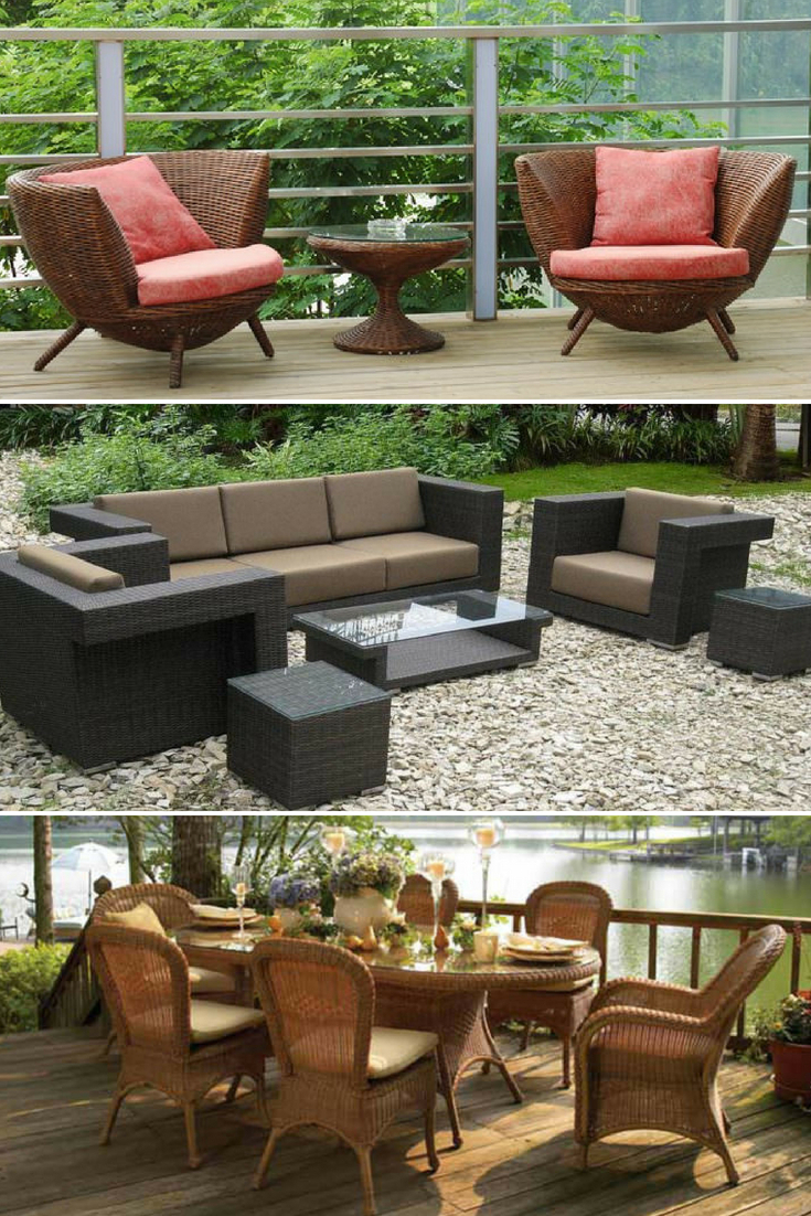 Most Recently Released Wicker Patio Furniture Ideas • Trend 2018 • 1001 Gardens With Outdoor Koro Swivel Chairs (Gallery 19 of 20)