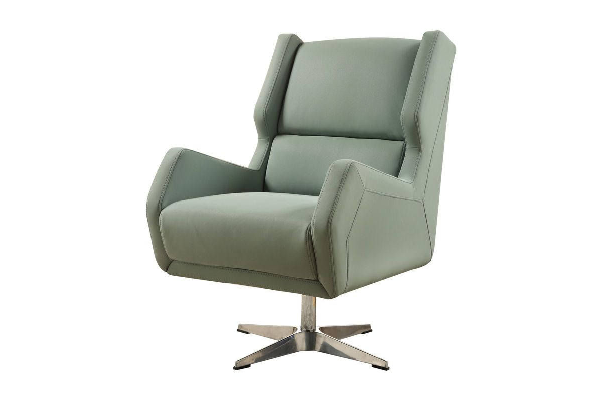 Most Up To Date Amari Swivel Accent Chairs Intended For Eudora Ii Accent Chair In Grey Stoneacme At Gardner White (Gallery 12 of 20)