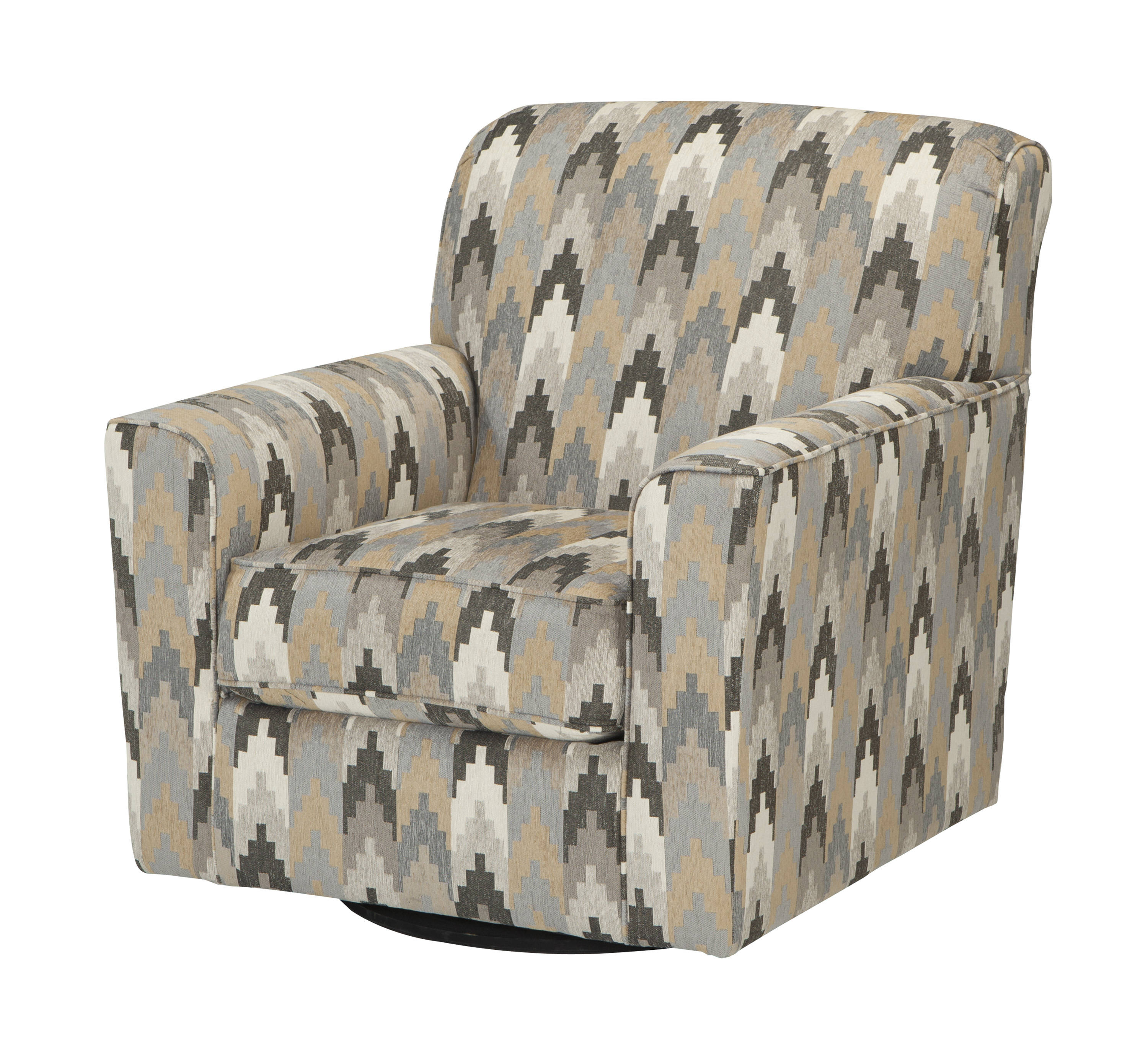 Most Up To Date Ashley Furniture Braxlin Charcoal Swivel Accent Chair (View 9 of 20)
