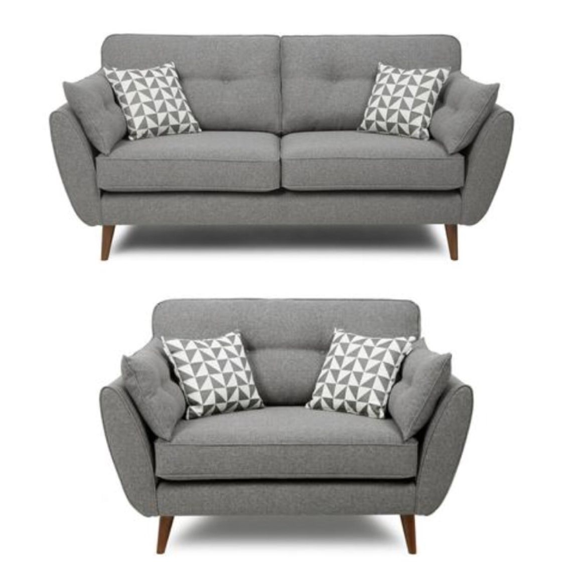 Most Up To Date Cheap Sofa Chairs In French Connection Grey Sofa And Cuddle Chair … (View 3 of 20)