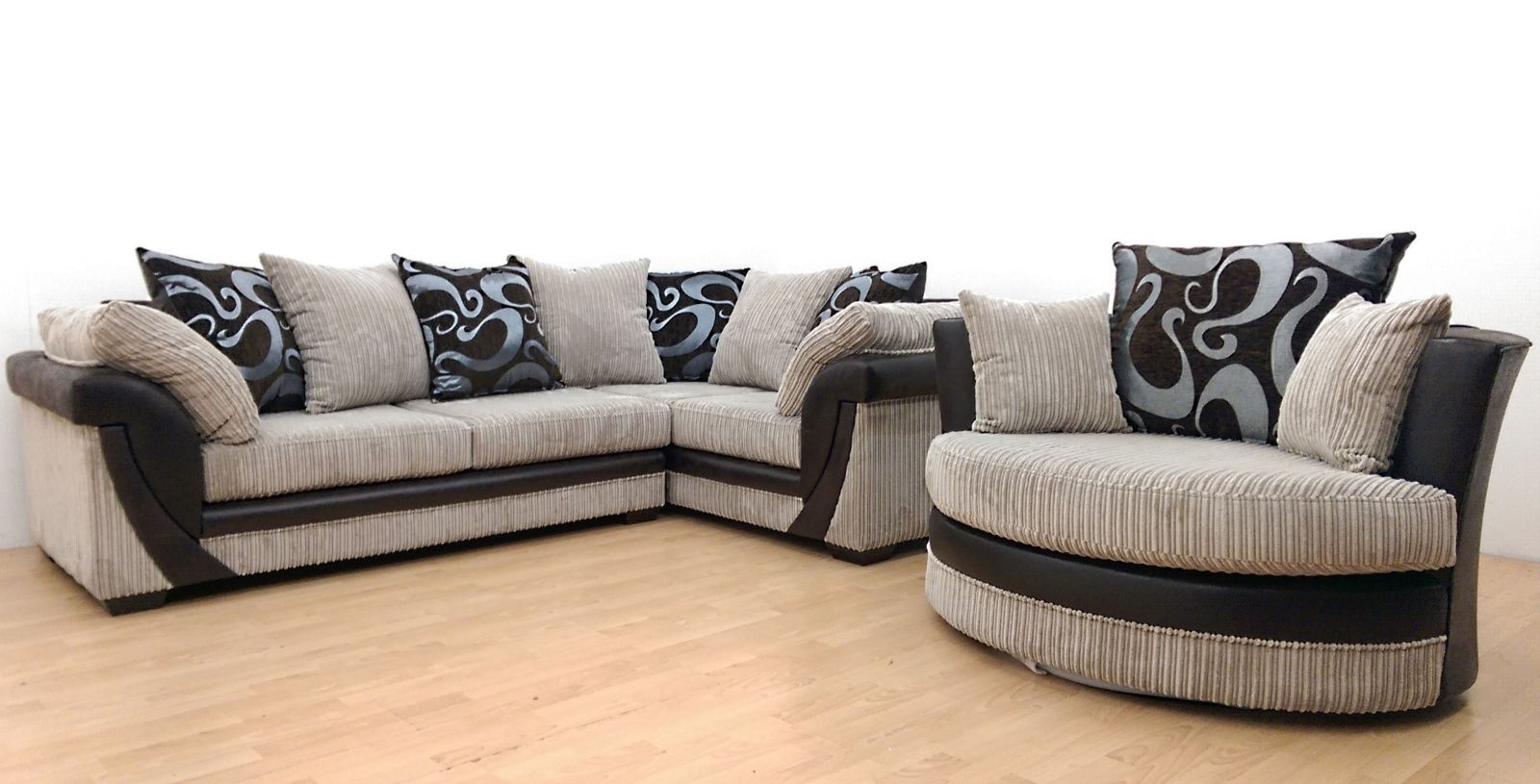 Most Up To Date Corner Sofa And Swivel Chairs For Furnish (View 5 of 20)