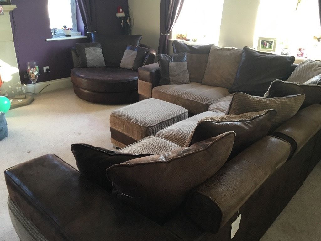 Most Up To Date Corner Sofa And Swivel Chairs With Prado Corner Sofa, Swivel Chair And Footstool (Furniture Village (Gallery 20 of 20)