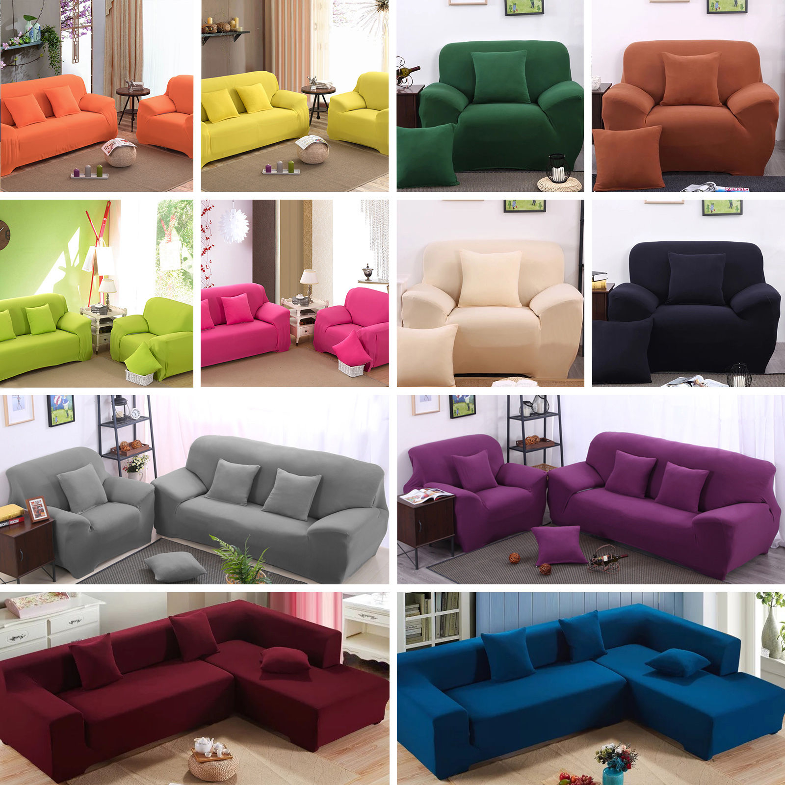 Most Up To Date Easy Stretch Couch Sofa Lounge Covers Recliner 1 2 3 4 Seater Dining In Sofa And Chair Covers (View 15 of 20)