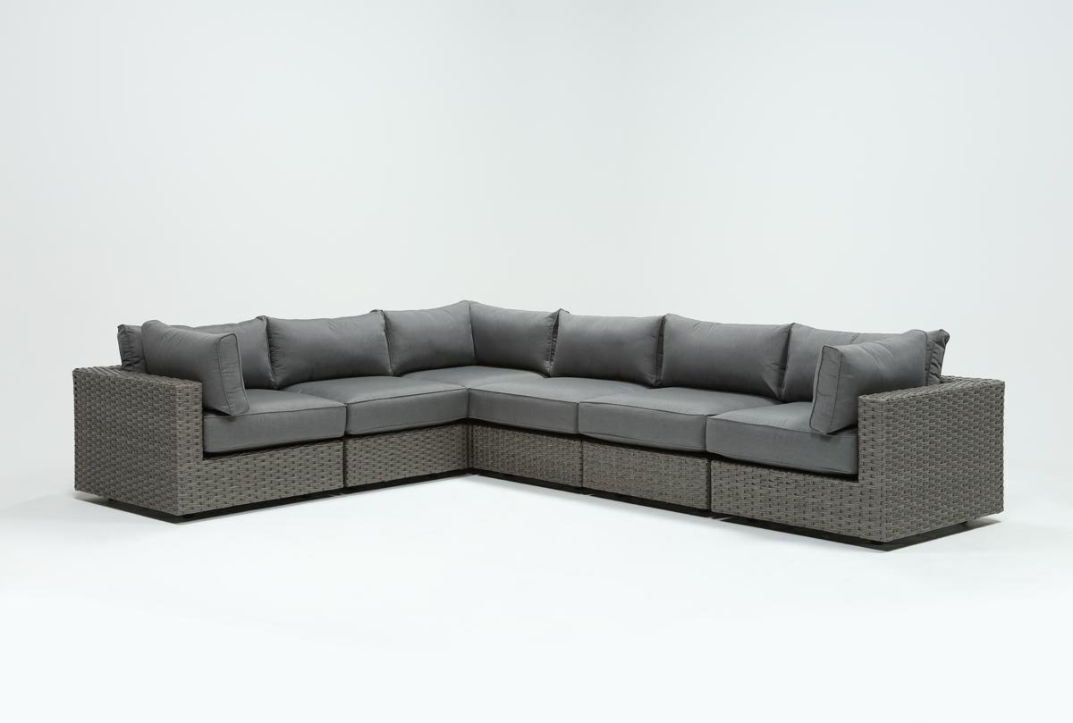 Most Up To Date Outdoor Koro Swivel Chairs For Outdoor Koro 6 Piece Sectional W/3 Corners (View 11 of 20)