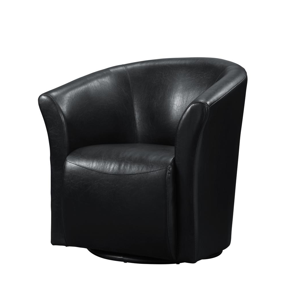 Most Up To Date Radford Black Swivel Chair Urt892100swca – The Home Depot Within Leather Black Swivel Chairs (View 5 of 20)