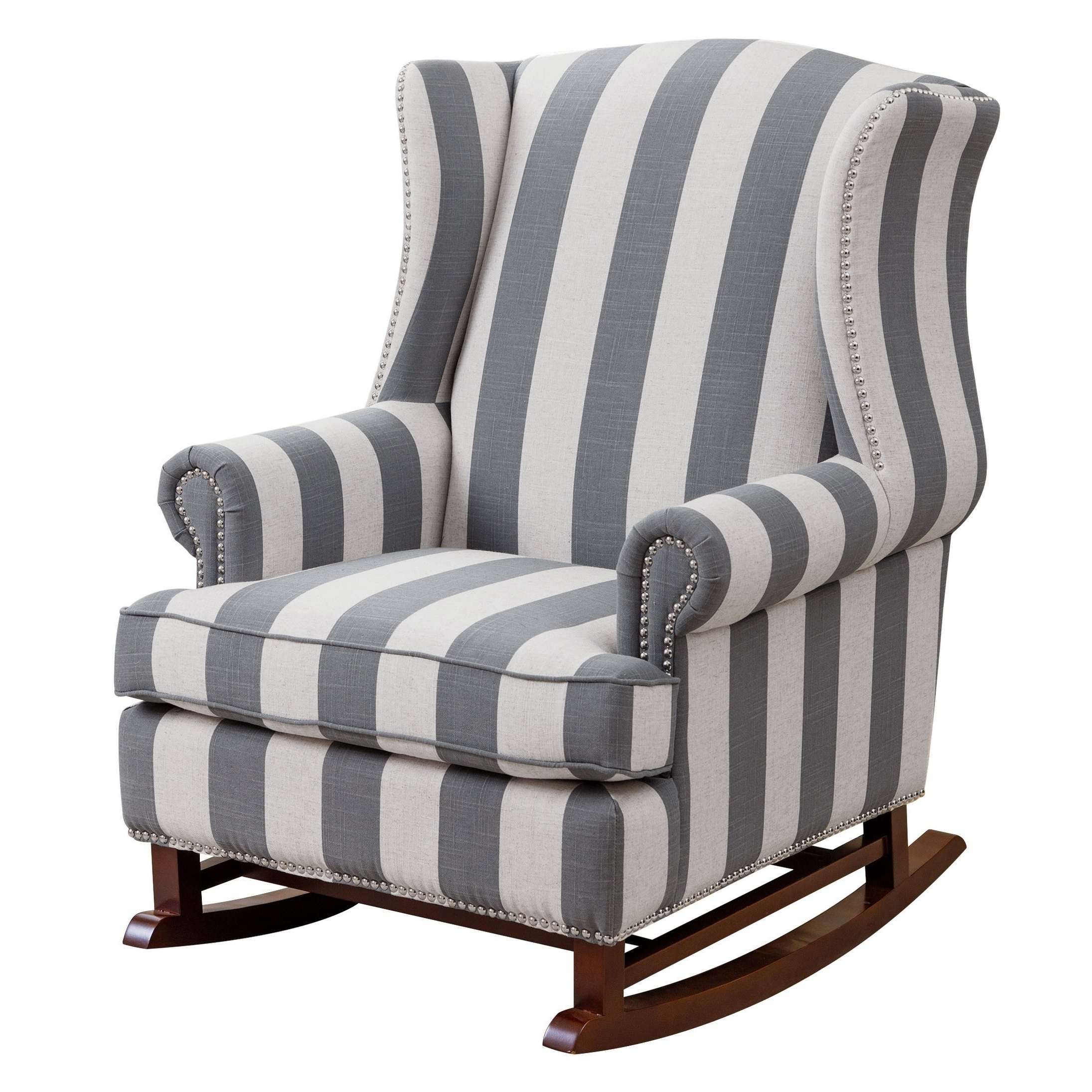Most Up To Date Shop Abbyson Radcliffe Two Tone Fabric Rocker Chair – On Sale – Free Pertaining To Katrina Blue Swivel Glider Chairs (Gallery 6 of 20)