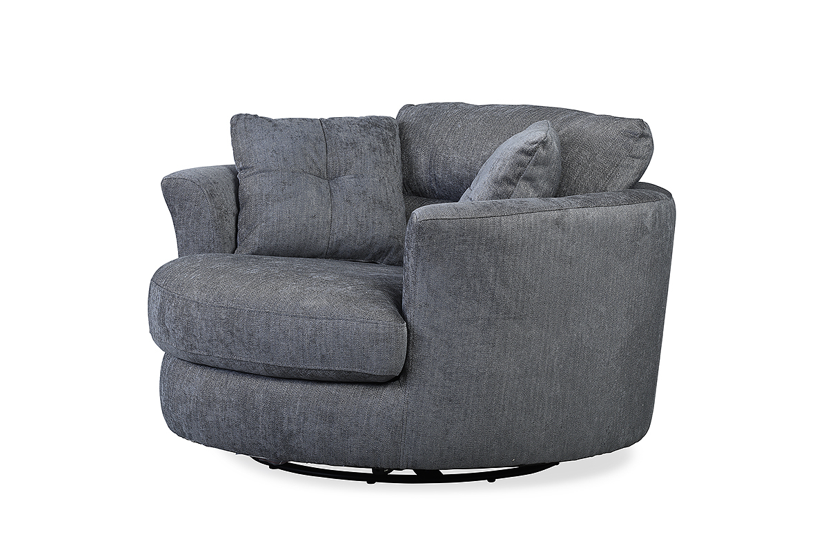 Nelson Swivel Chair Charcoal – Furniture Stores Ireland With Best And Newest Sofa With Swivel Chair (Gallery 12 of 20)