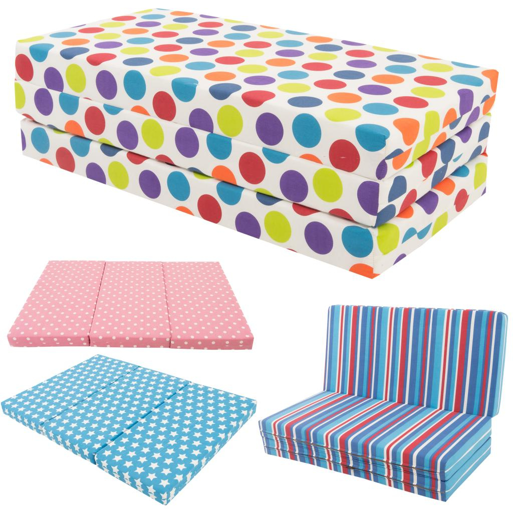 Newest Childrens Sofa Bed Chairs Inside Gilda Kids Folding Sofa Bed Futon Guest Z Bed Chair Folding Sofabed (View 3 of 20)