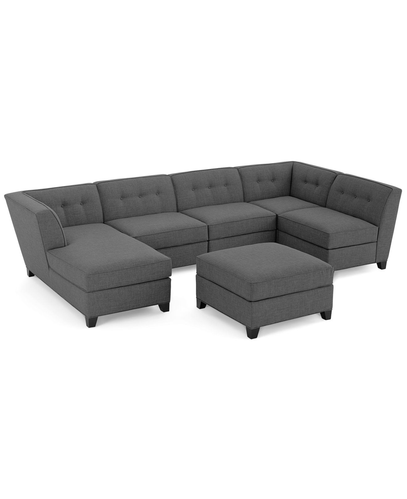 Newest Harper Fabric Modular Sectional Sofa, 6 Piece (Square Corner Unit Inside Harper Down Oversized Sofa Chairs (Gallery 6 of 20)