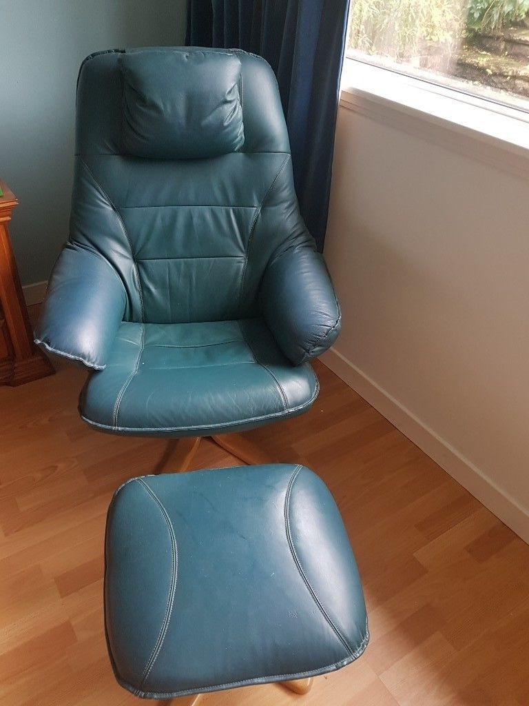 Newest Katrina Blue Swivel Glider Chairs Inside Leather Swivel Chairs N Stools (View 8 of 20)