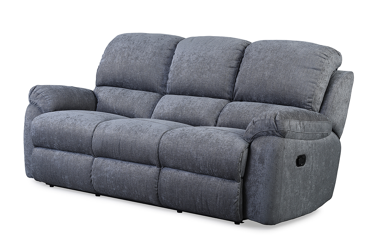 Newest Leona Charcoal 3 Seater Recliner Sofa – Furniture Stores Ireland Within Sofa Chair Recliner (Gallery 9 of 20)