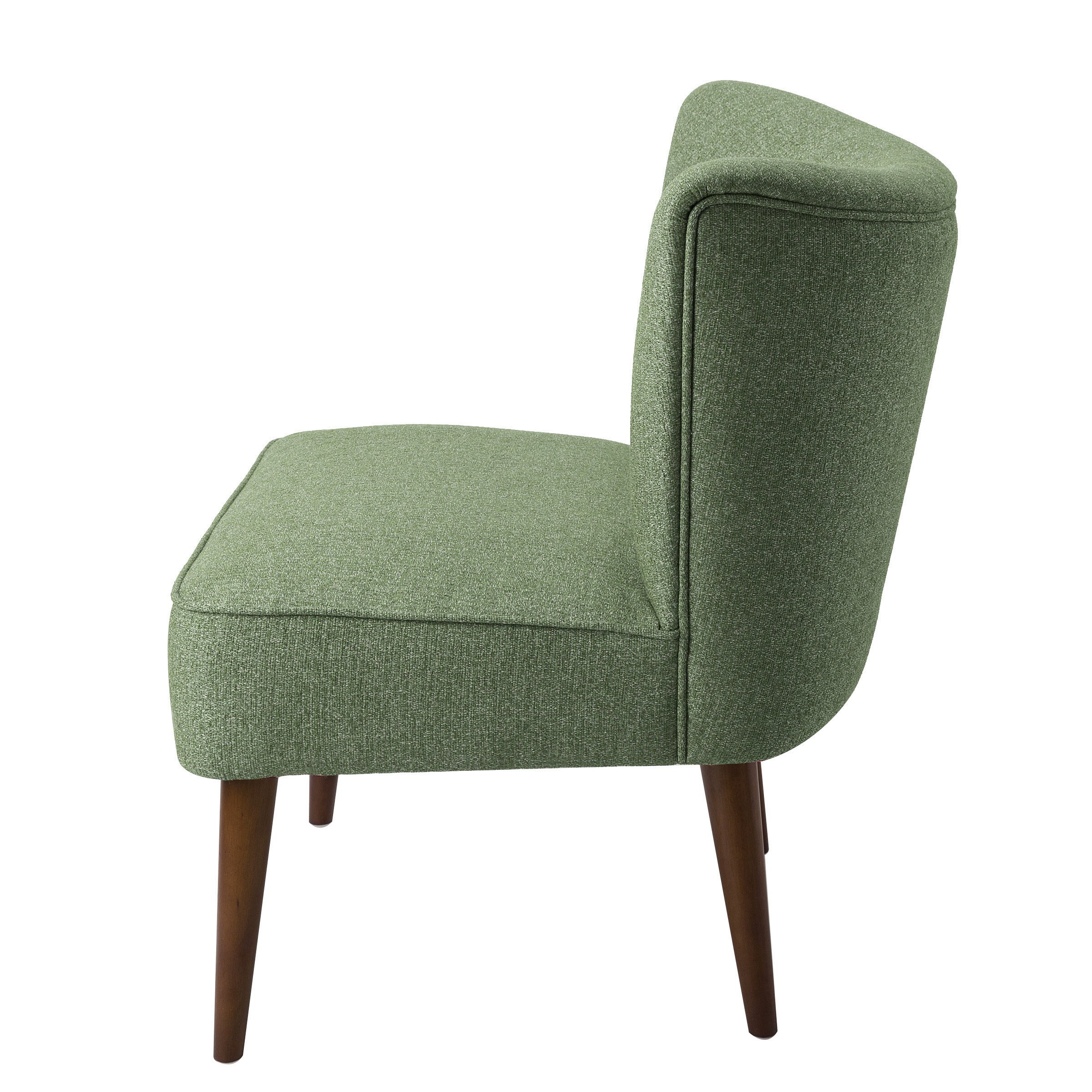 Newest Shop Homepop Chadwick Armless Accent Chair – Teal – On Sale – Free Inside Chadwick Gunmetal Swivel Chairs (View 4 of 20)