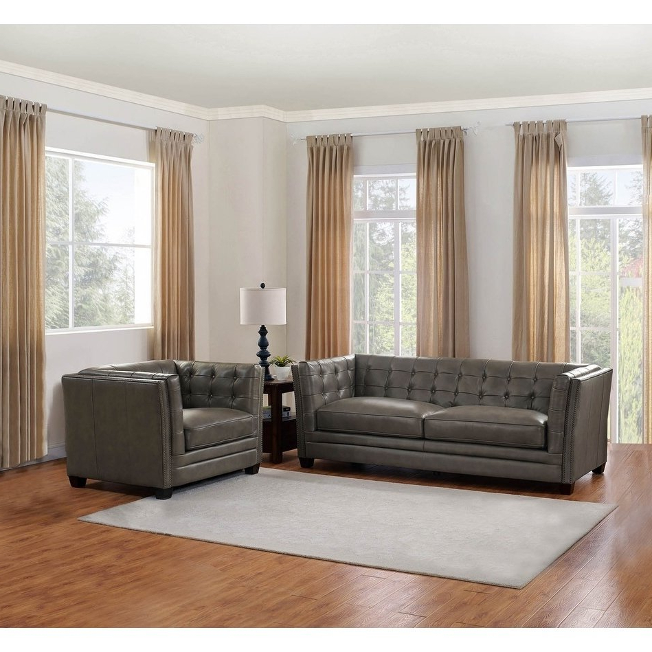 Newest Shop Milan Leather Sofa And Chair Set – On Sale – Free Shipping Inside Sofa And Chair Set (View 12 of 20)