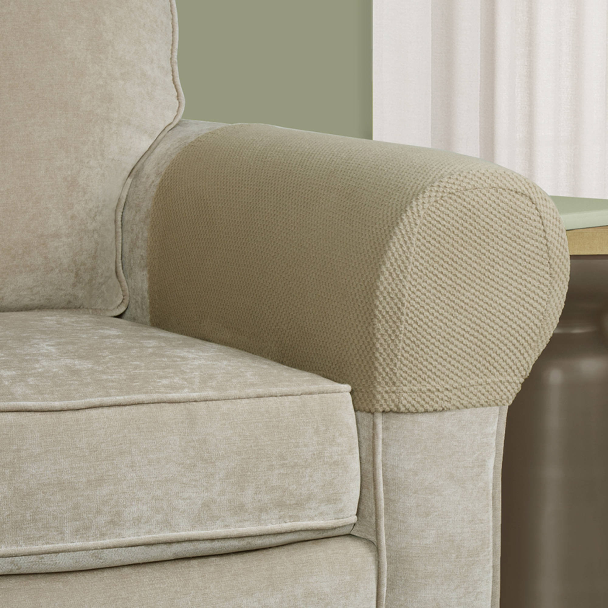 Newest Slipcovers For Chairs And Sofas With Regard To Furniture: Sofa Covers At Walmart For A Slightly Loose And Casual (Gallery 15 of 20)