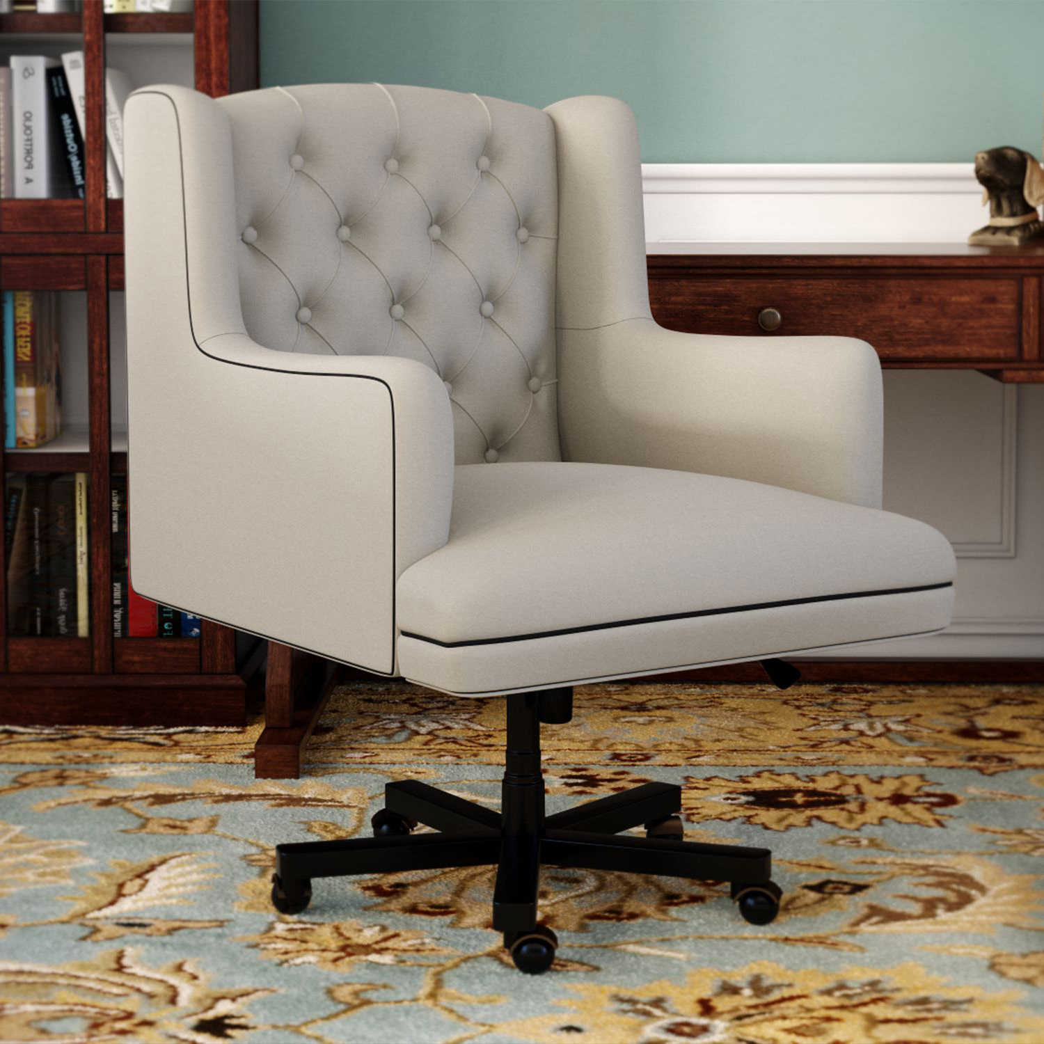 Nichol Swivel Accent Chairs Inside Widely Used Darby Home Co Nichols Desk Chair & Reviews (View 13 of 20)