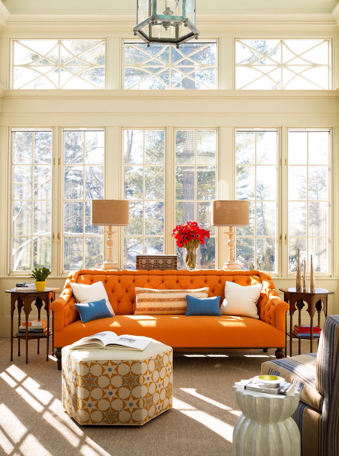 Orange Sofa Chairs Pertaining To Recent Bright Orange Sofa For The Fresh Living Room – Furniture Designs (View 4 of 20)