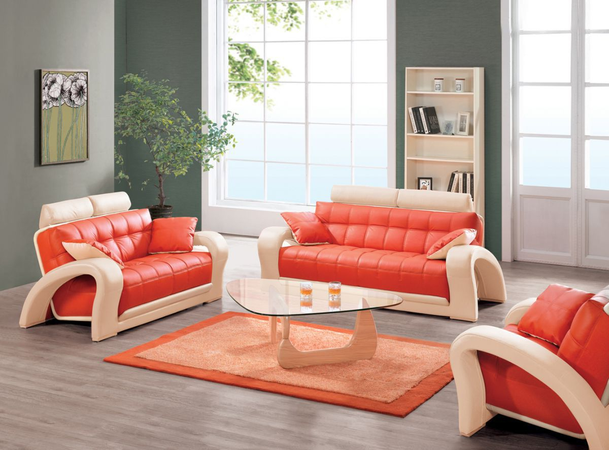 Orange Sofa Chairs With Preferred There Is No Doubt That The Leather Furniture Can Bring A (View 17 of 20)