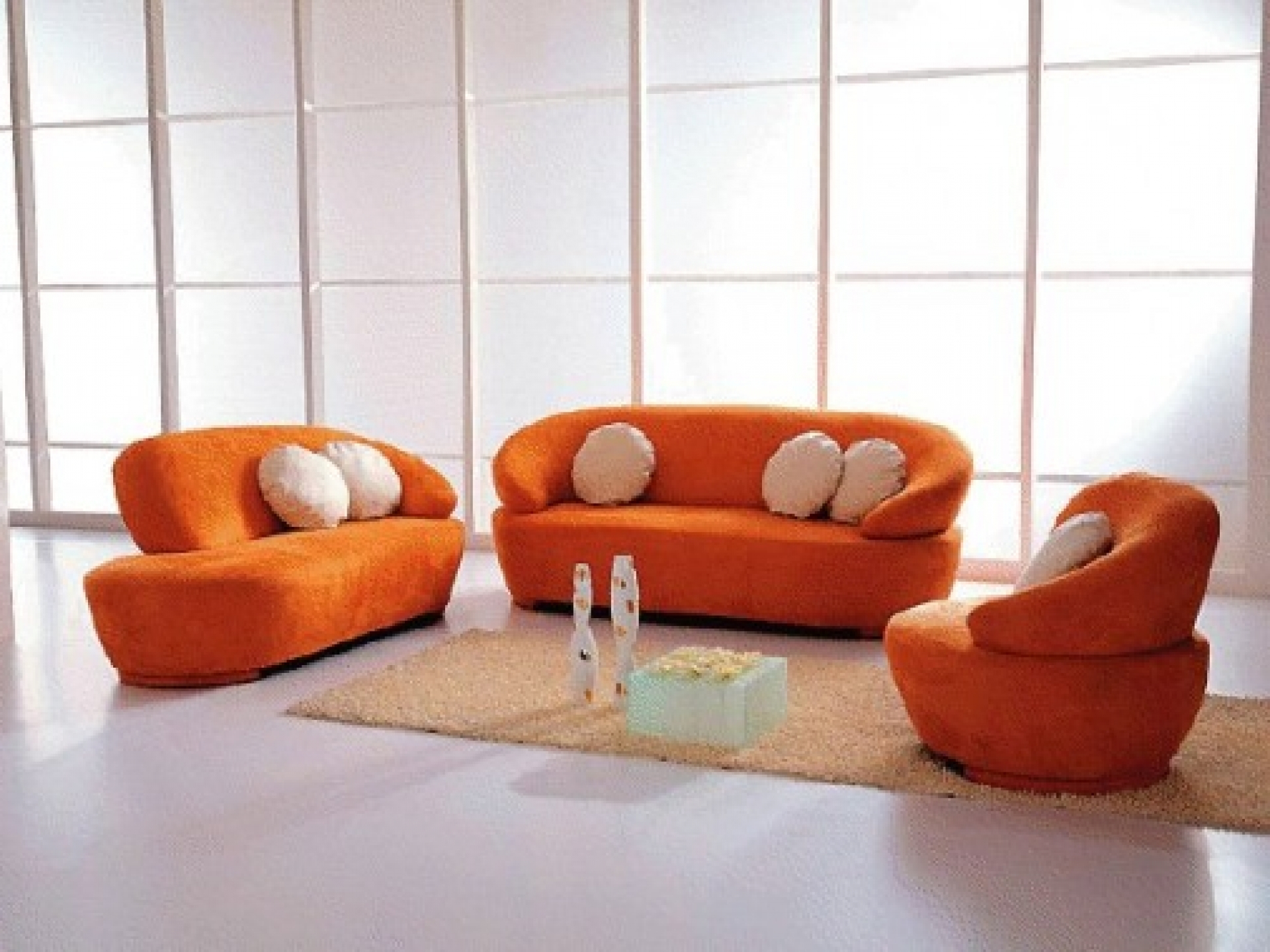 Orange Sofa Chairs Within Famous Velvet Sofa Set With Jinanhongyu Red Leather Chaise Chair Ikea (Gallery 5 of 20)