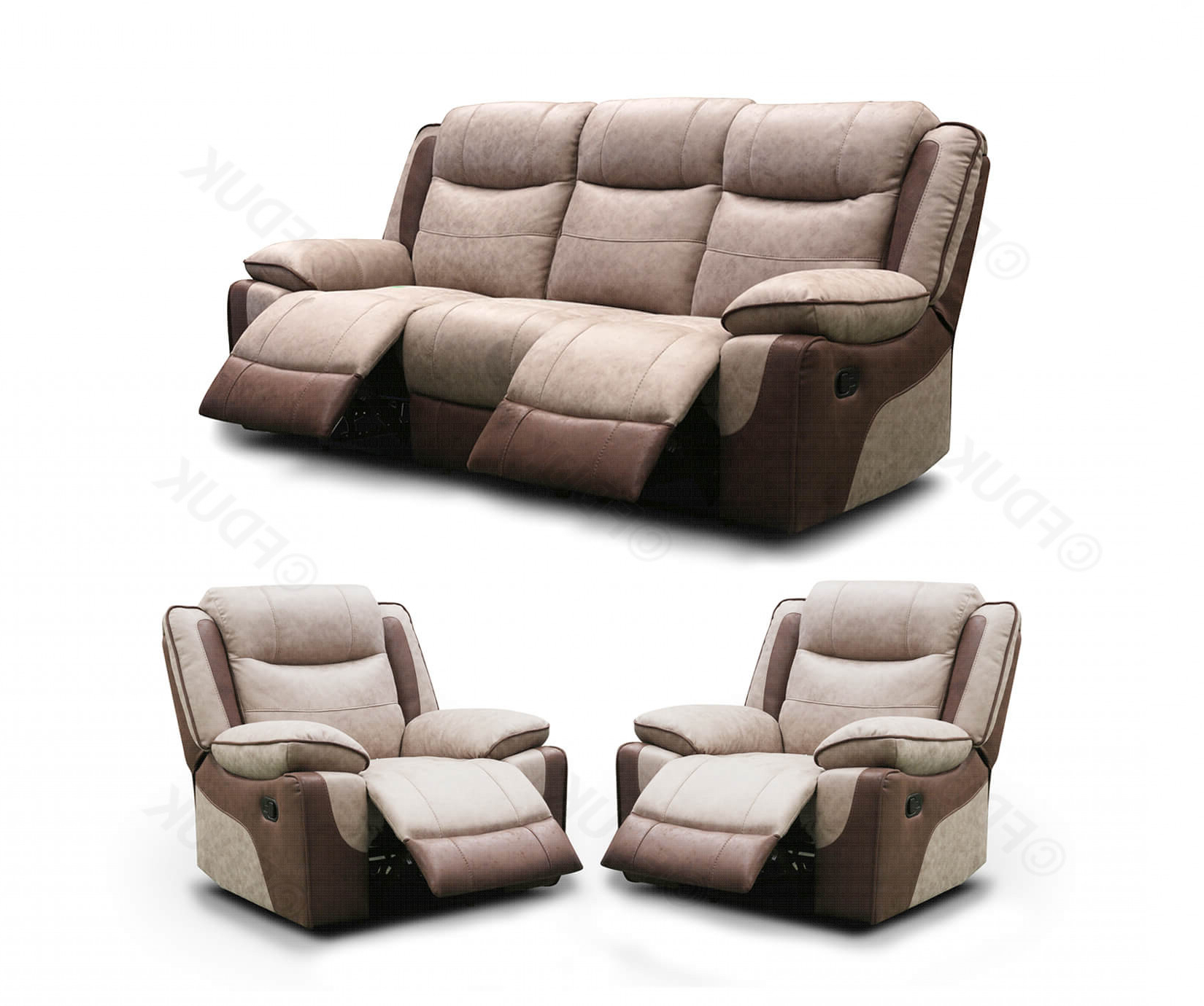 Paige 3+1+1 Manual Recliner Sofa Set (View 10 of 20)