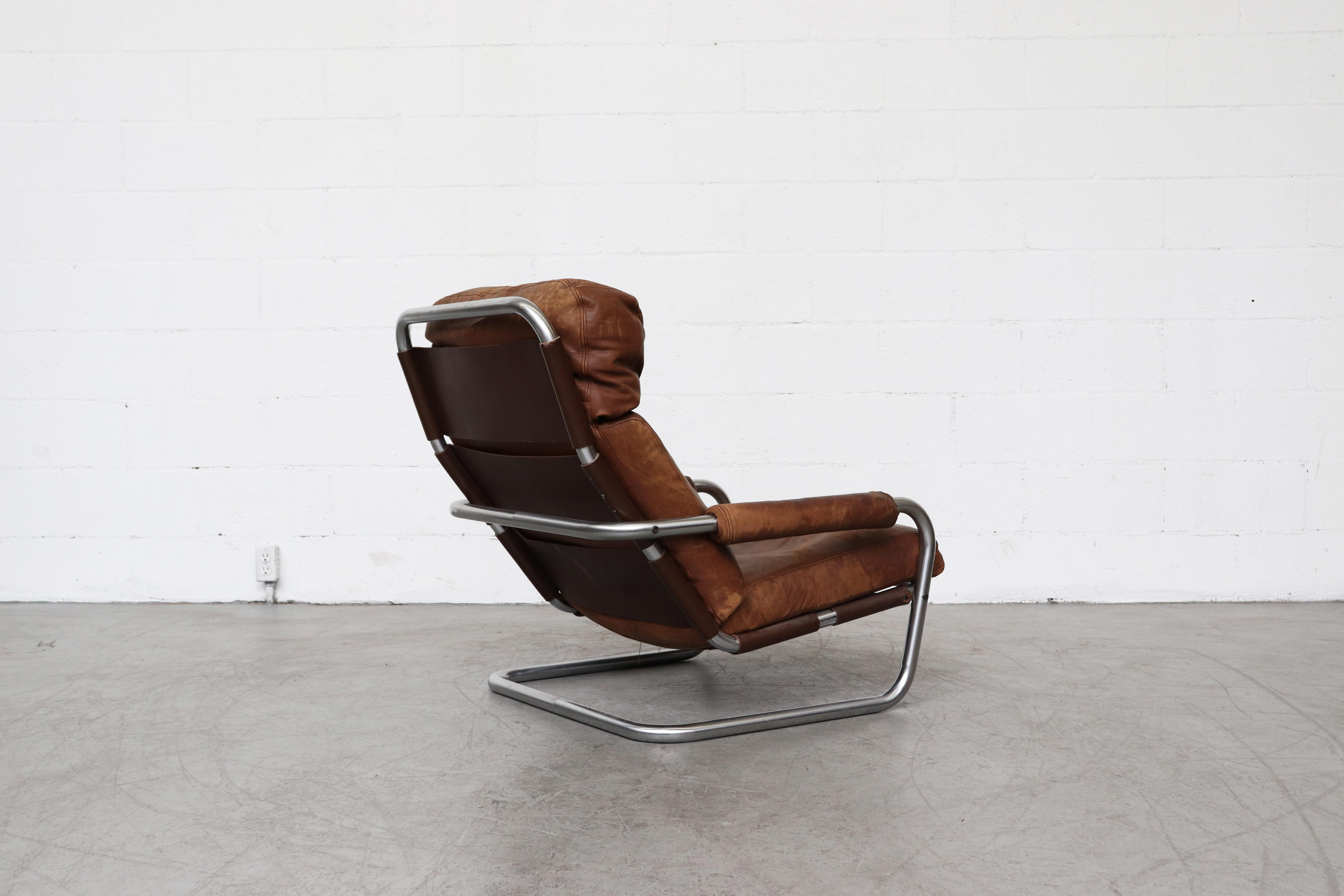 Pair Of Jan Des Bouvrie Well Loved Oberman Lounge Chairs At 1Stdibs Intended For Preferred Franco Iii Fabric Swivel Rocker Recliners (Gallery 13 of 20)