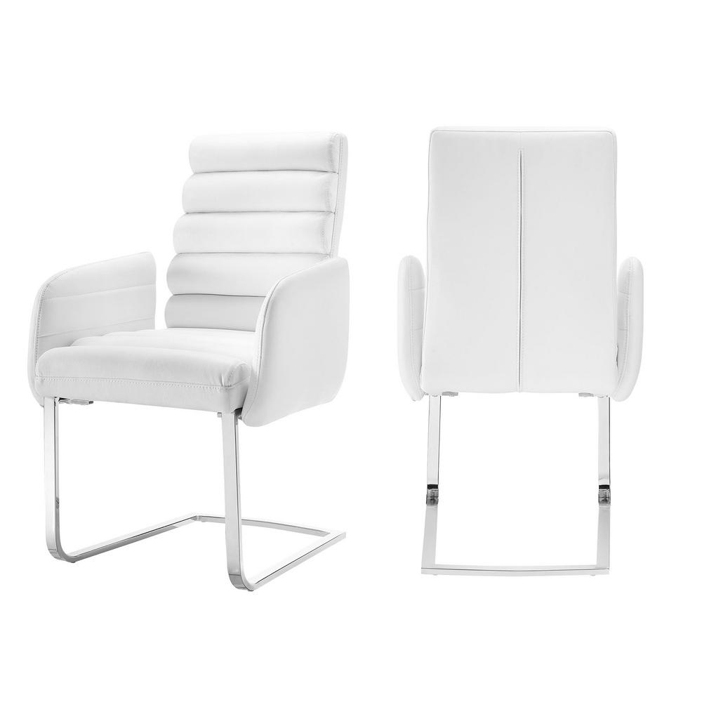 Patterson Ii Arm Sofa Chairs For Most Recently Released Picket House Furnishings Soho White Modern Arm Chair (Set Of  (View 9 of 20)