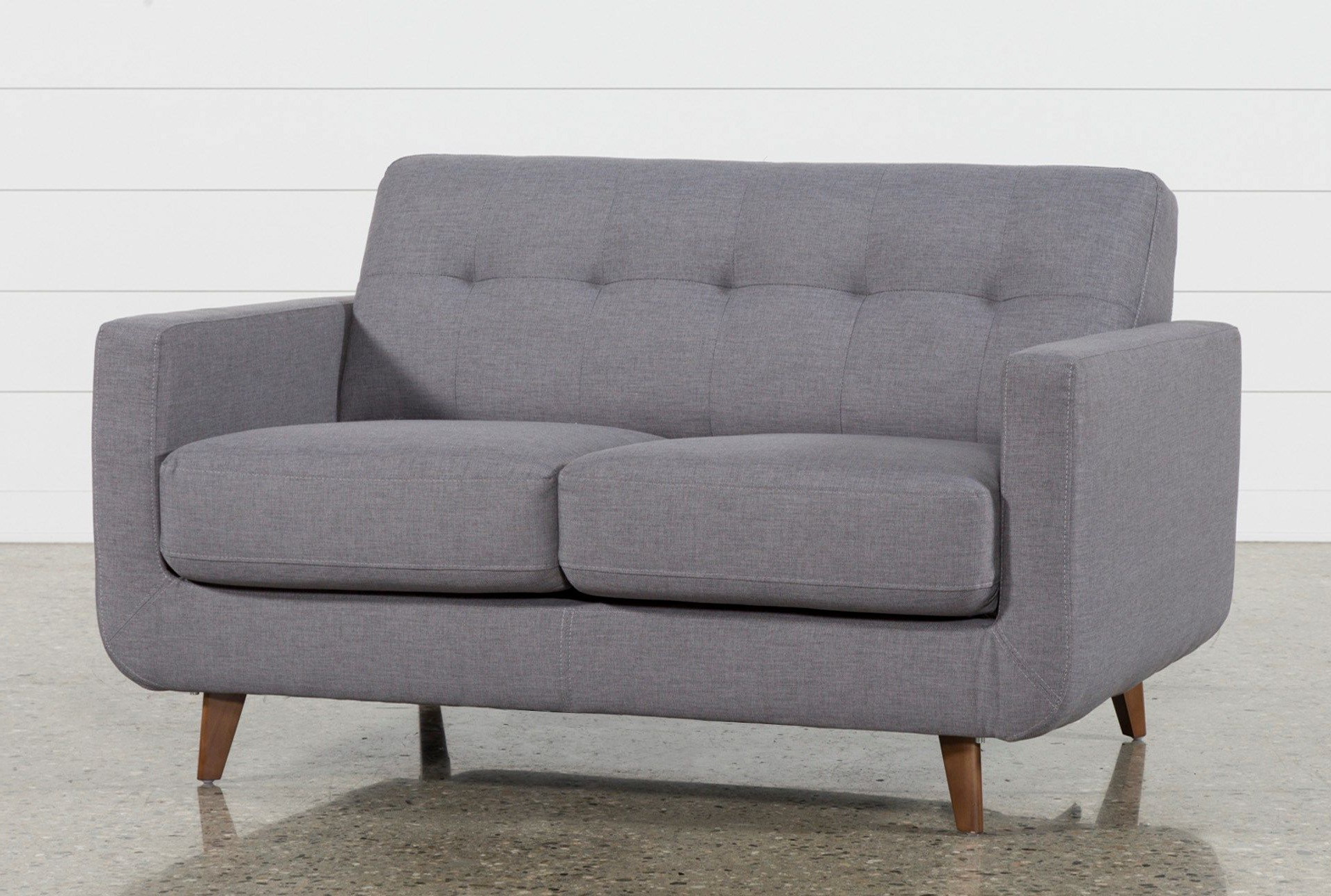 Popular Allie Dark Grey Loveseat (Gallery 5 of 20)