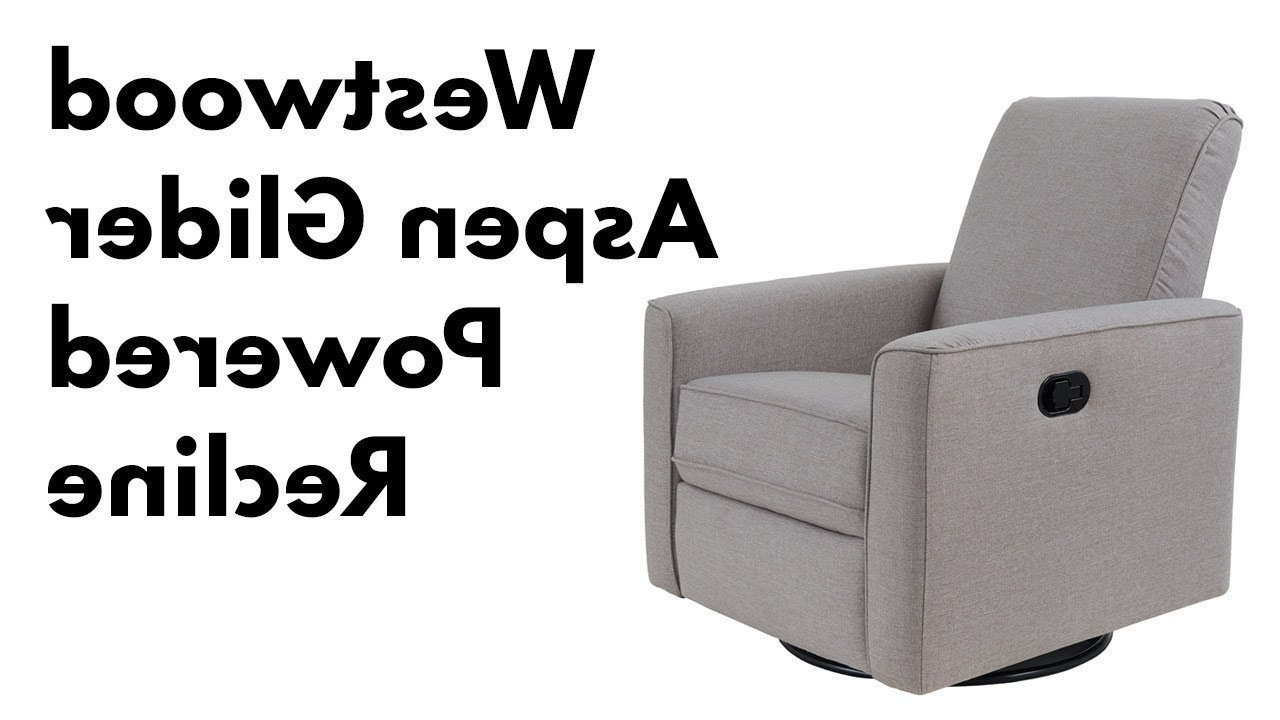 Popular Aspen Swivel Chairs Regarding Westwood Aspen Swivel And Power Reclining Glider – Youtube (Gallery 3 of 20)