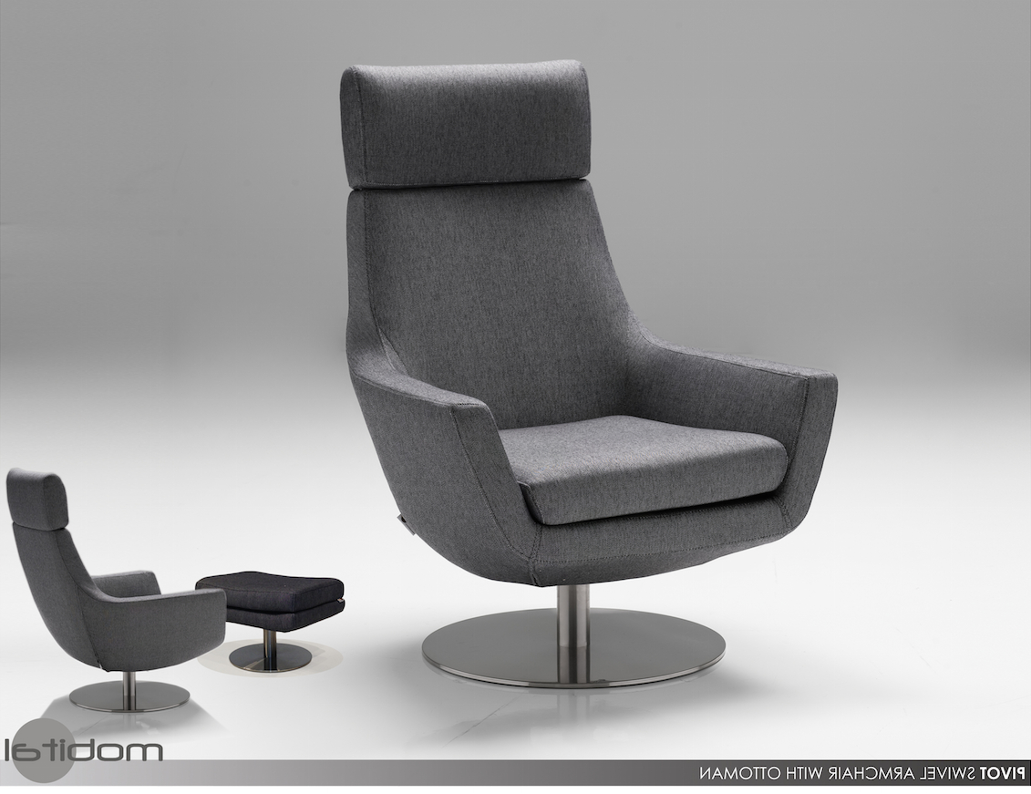 Popular Charcoal Pivot Swivel Chair & Ottomanmobitalmobital Inside Charcoal Swivel Chairs (View 11 of 20)
