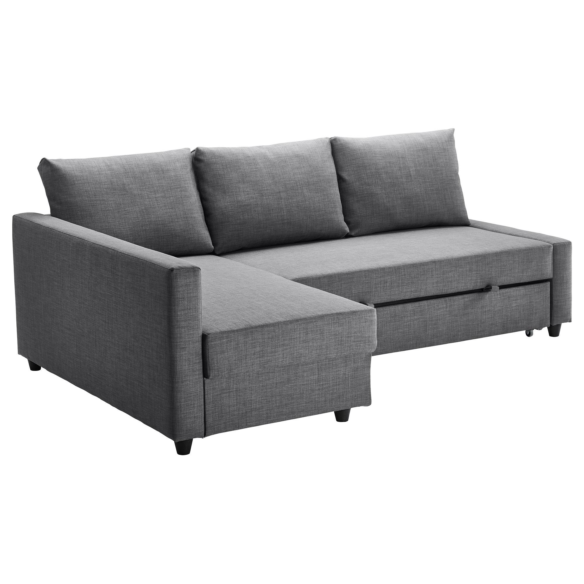 Popular Friheten Corner Sofa Bed With Storage Skiftebo Dark Grey – Ikea Intended For London Dark Grey Sofa Chairs (View 17 of 20)