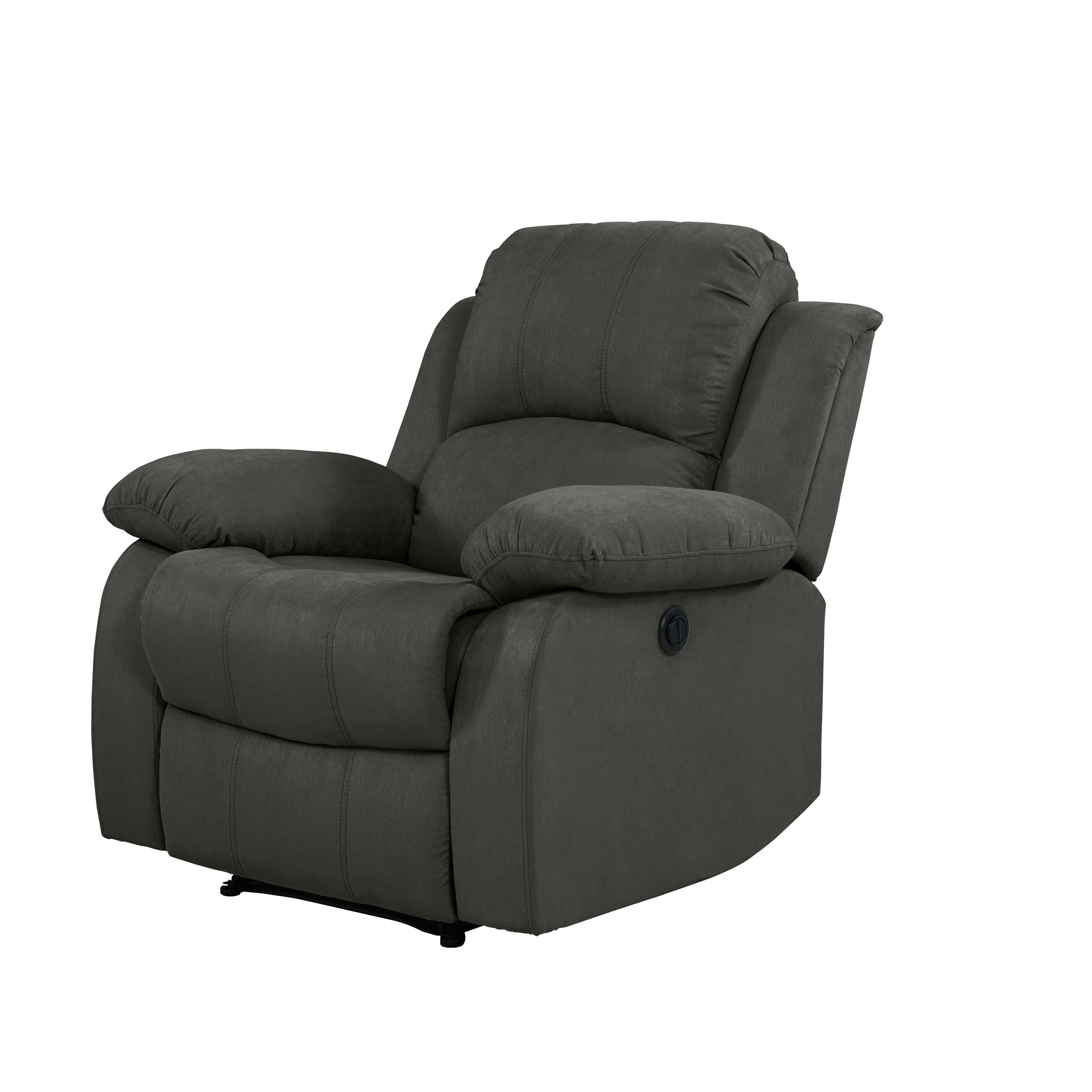 Popular Gannon Linen Power Swivel Recliners With Shop Prolounger Power Wall Hugger Recliner Chair Grey Microfiber (View 20 of 20)