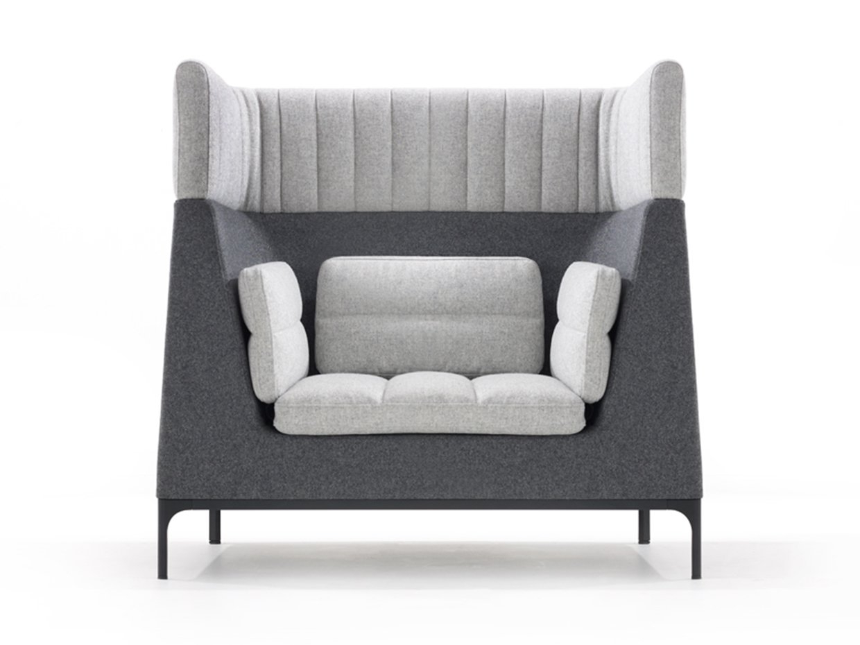 Popular Haven Single Seat Armchair With Headrest Large Ashley Furniture Regarding Haven Sofa Chairs (View 12 of 20)