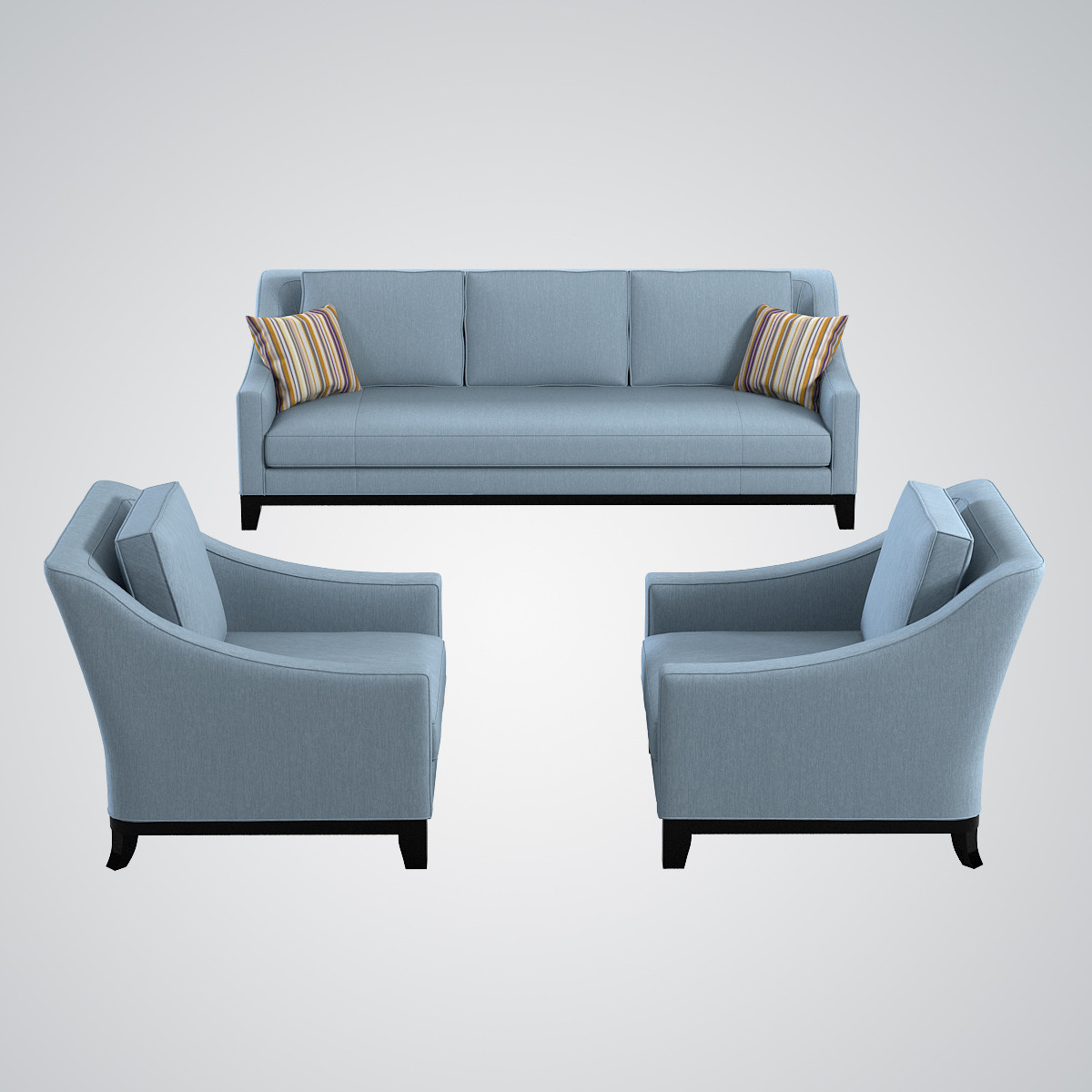 Popular Luxury Sofa And Chair Set 29 For Your Living Room Sofa Ideas With For Sofa And Chair Set (View 10 of 20)
