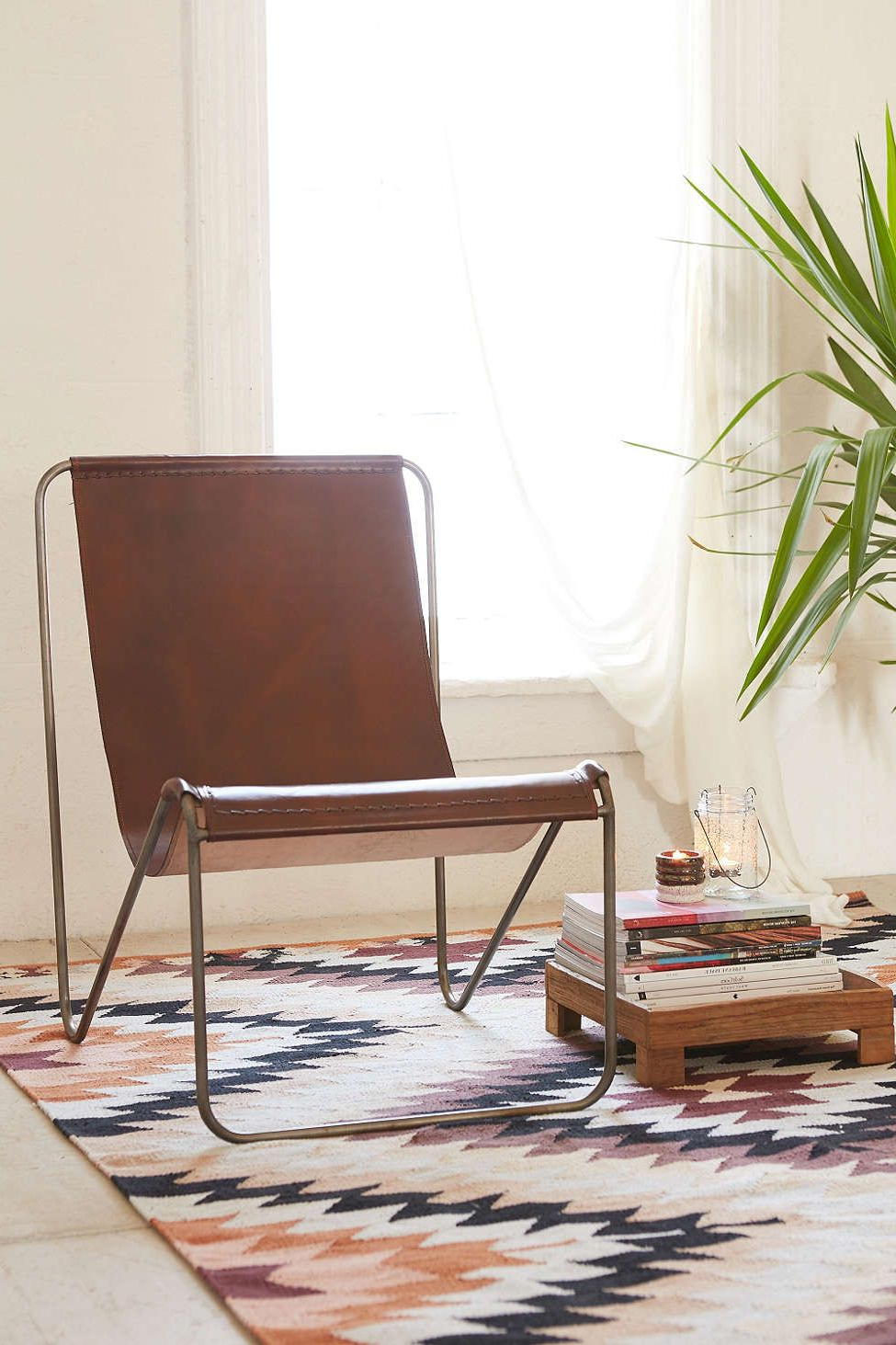 Popular Maddox Leather Sling Chair (Gallery 5 of 20)