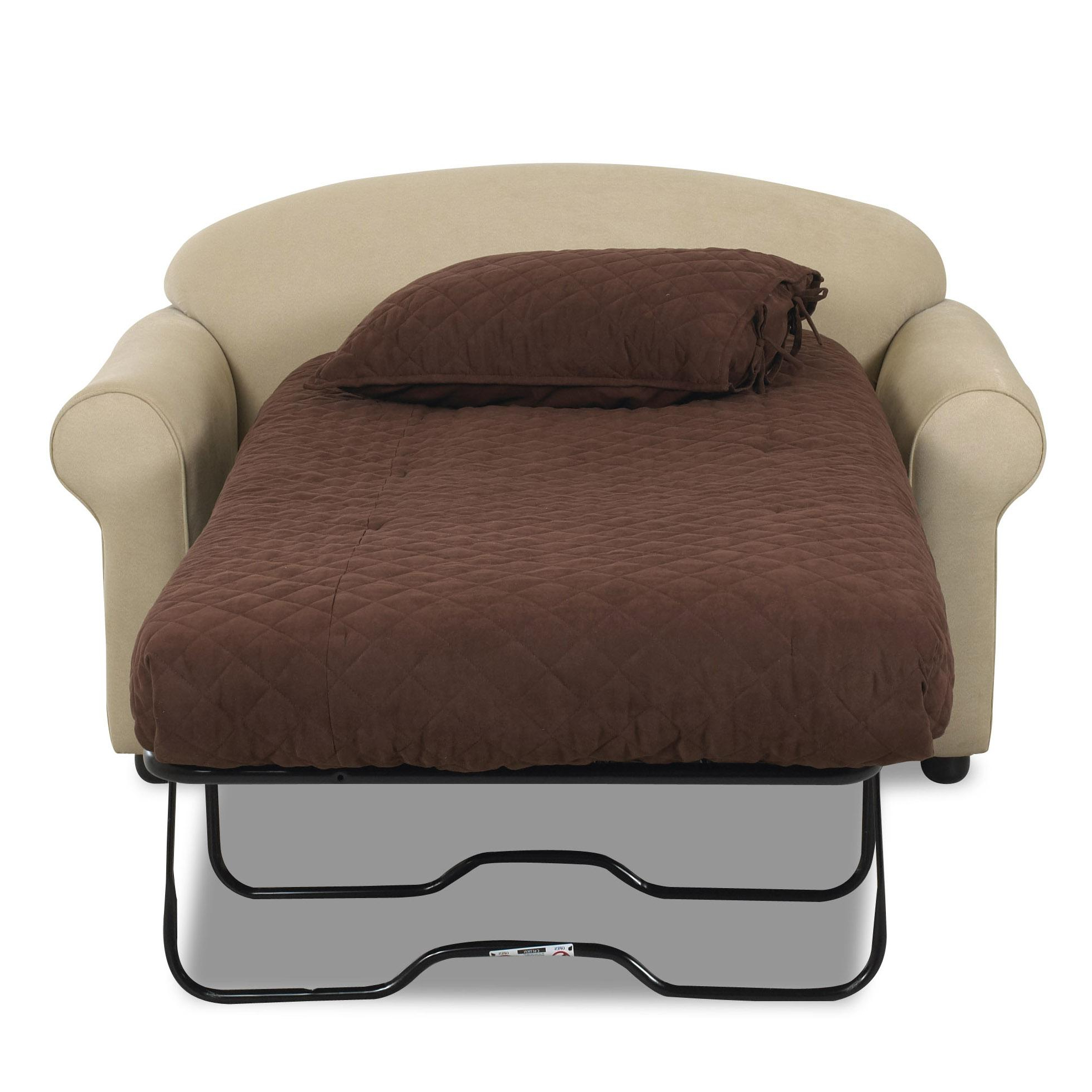 Popular Sofa Beds Chairs Intended For Klaussner Possibilities Innerspring Chair Sleeper (Gallery 7 of 20)