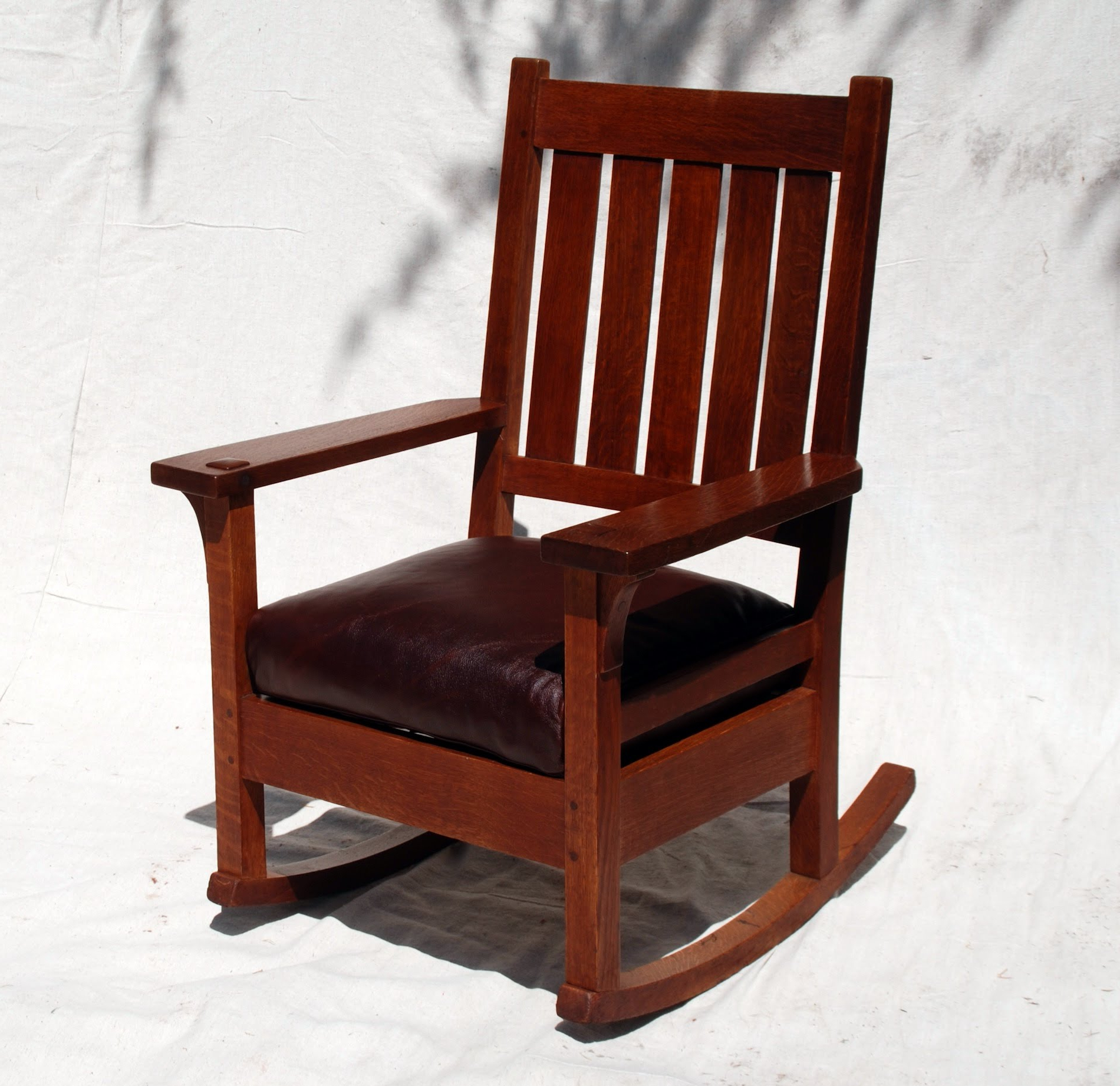Popular Sofa Rocking Chairs Within Voorhees Craftsman Mission Oak Furniture – Early Gustav Stickley (View 11 of 20)