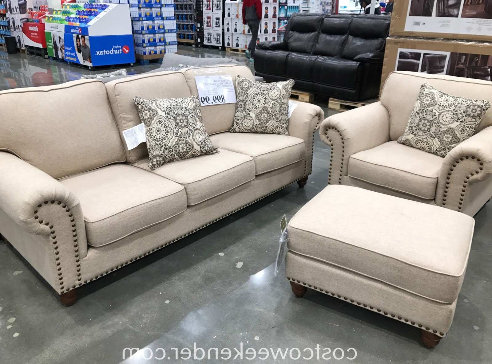 Popular Synergy Home Fabric Sofa, Chair & Ottoman Set (View 14 of 20)
