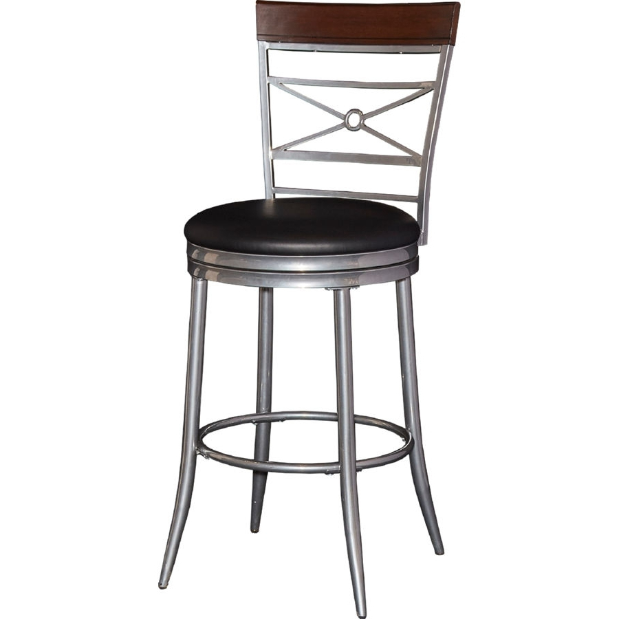 Powell Furniture Rory Black Big And Tall Counter Stool (View 11 of 20)