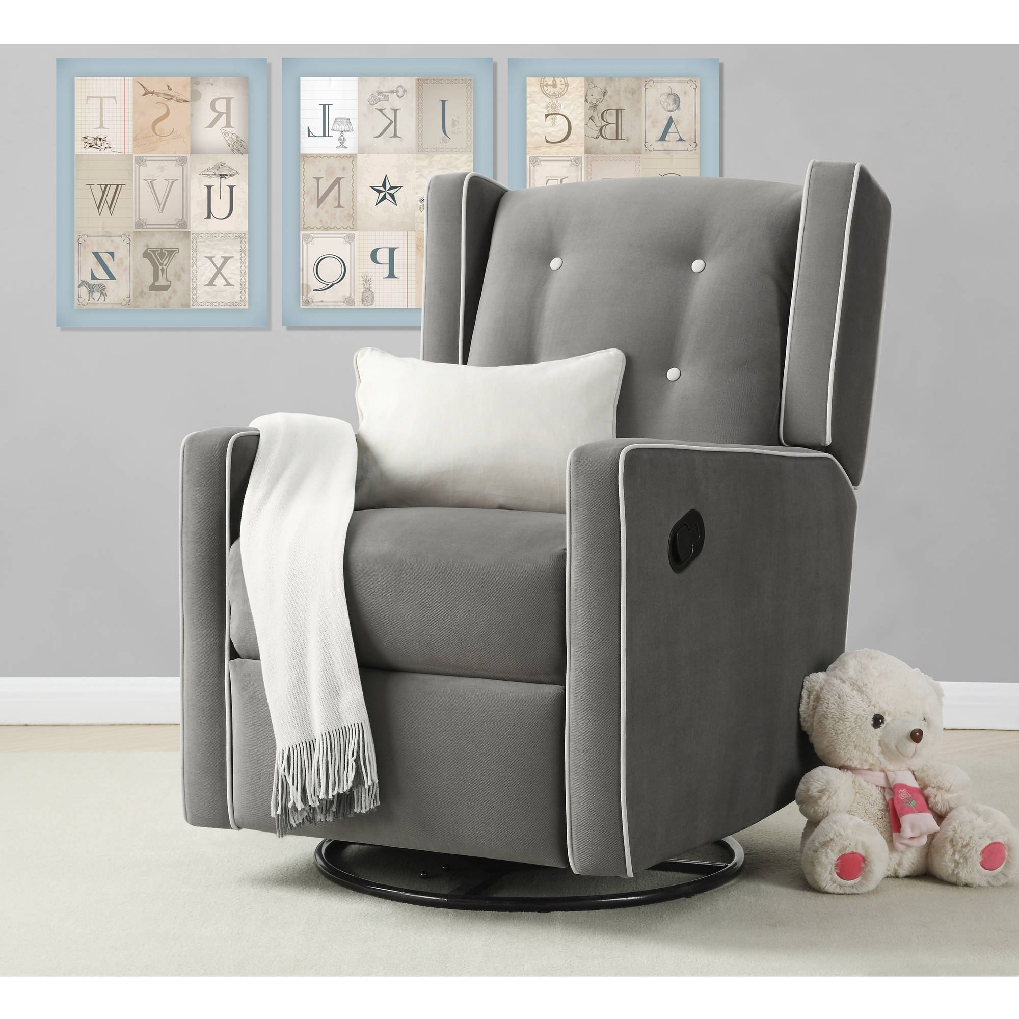 Preferred Abbey Swivel Glider Recliners Within Furniture: Magnificent Walmart Glider Rocker For Fabulous Home (View 8 of 20)