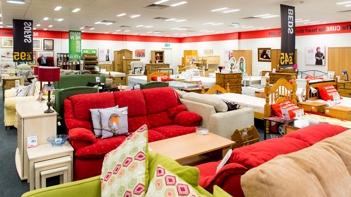 Preferred British Heart Foundation Furniture And Electrical Stores Inside Mansfield Cocoa Leather Sofa Chairs (View 17 of 20)