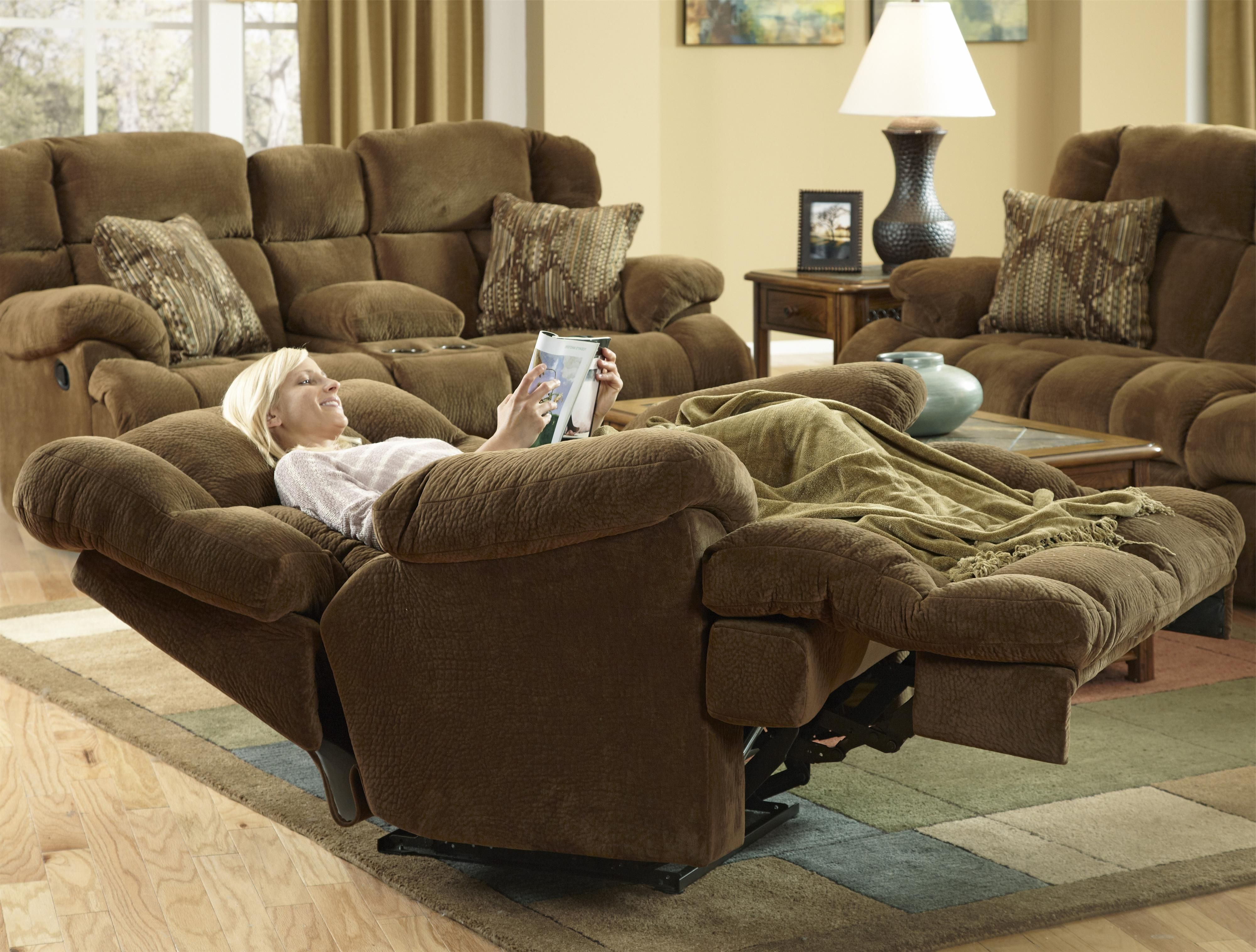 """Preferred Catnapper Furniture: Concord Collection """"power"""" """"lay Flat"""" Recliner With Gibson Swivel Cuddler Chairs (View 7 of 20)"""