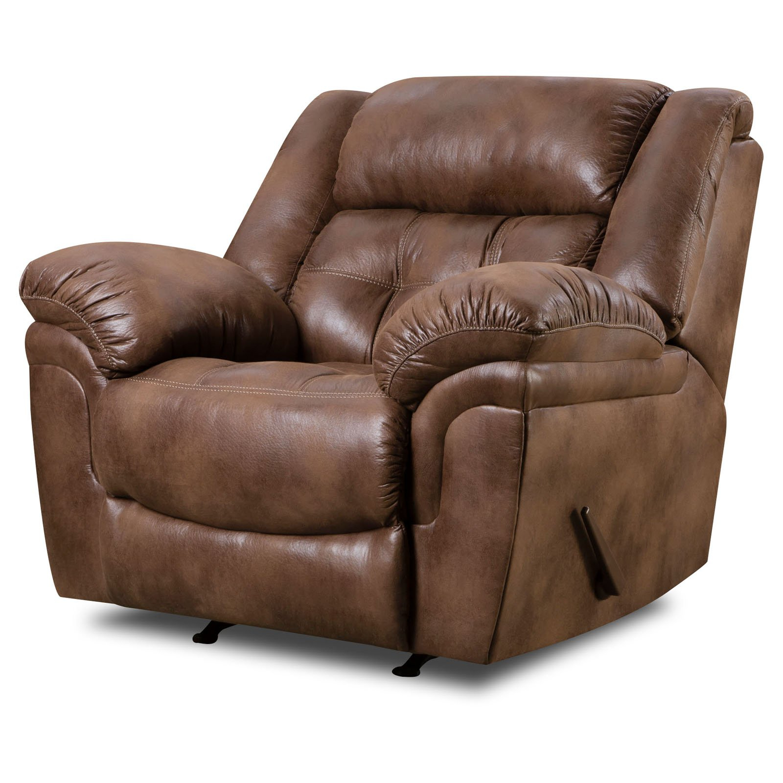 Preferred Furniture: Surprising Simmons Recliners For Contemporary Living Room With Regard To Rogan Leather Cafe Latte Swivel Glider Recliners (View 6 of 20)